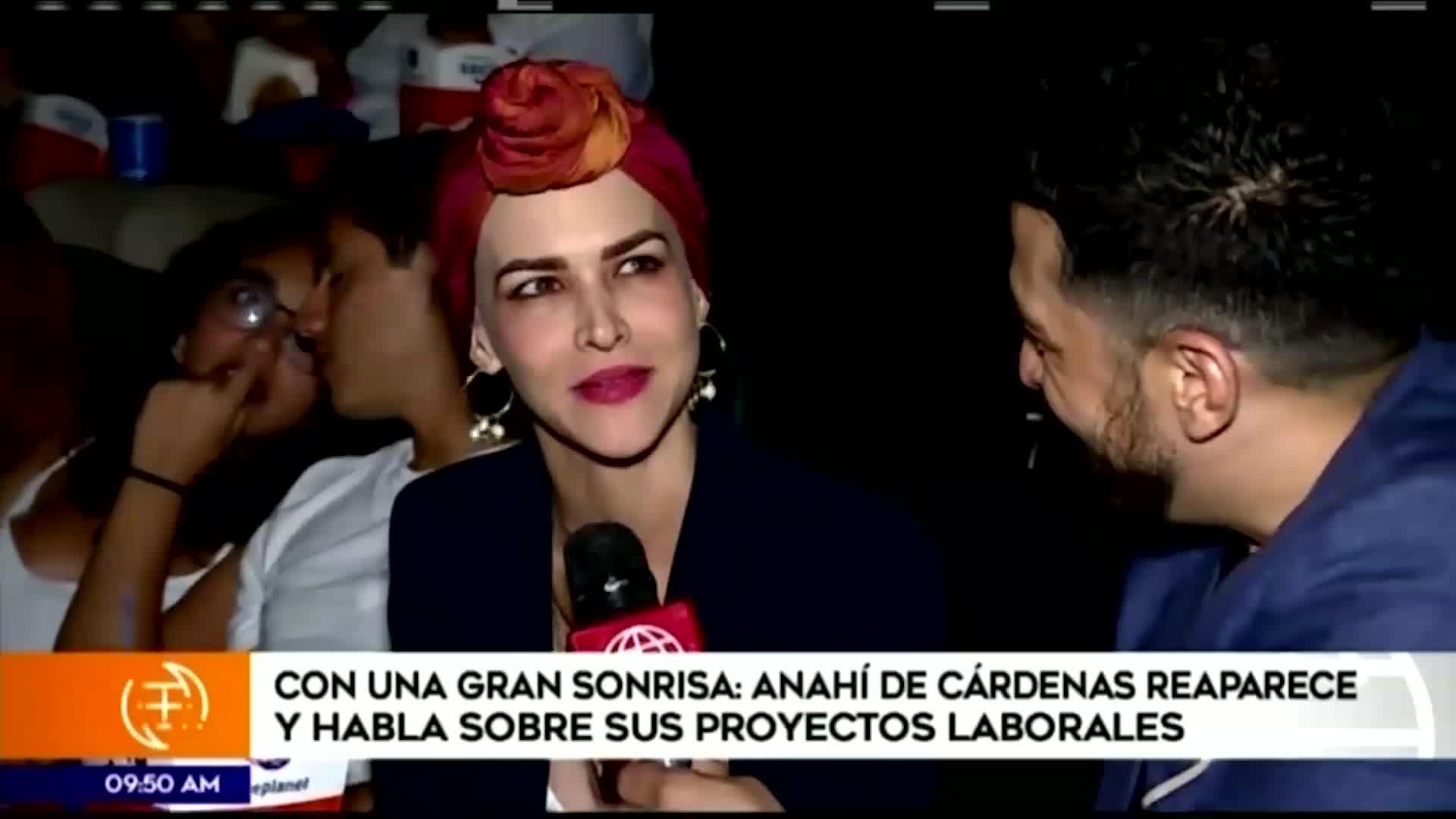 Anahí de Cárdenas se mostró optimista sobre su actual estado de salud