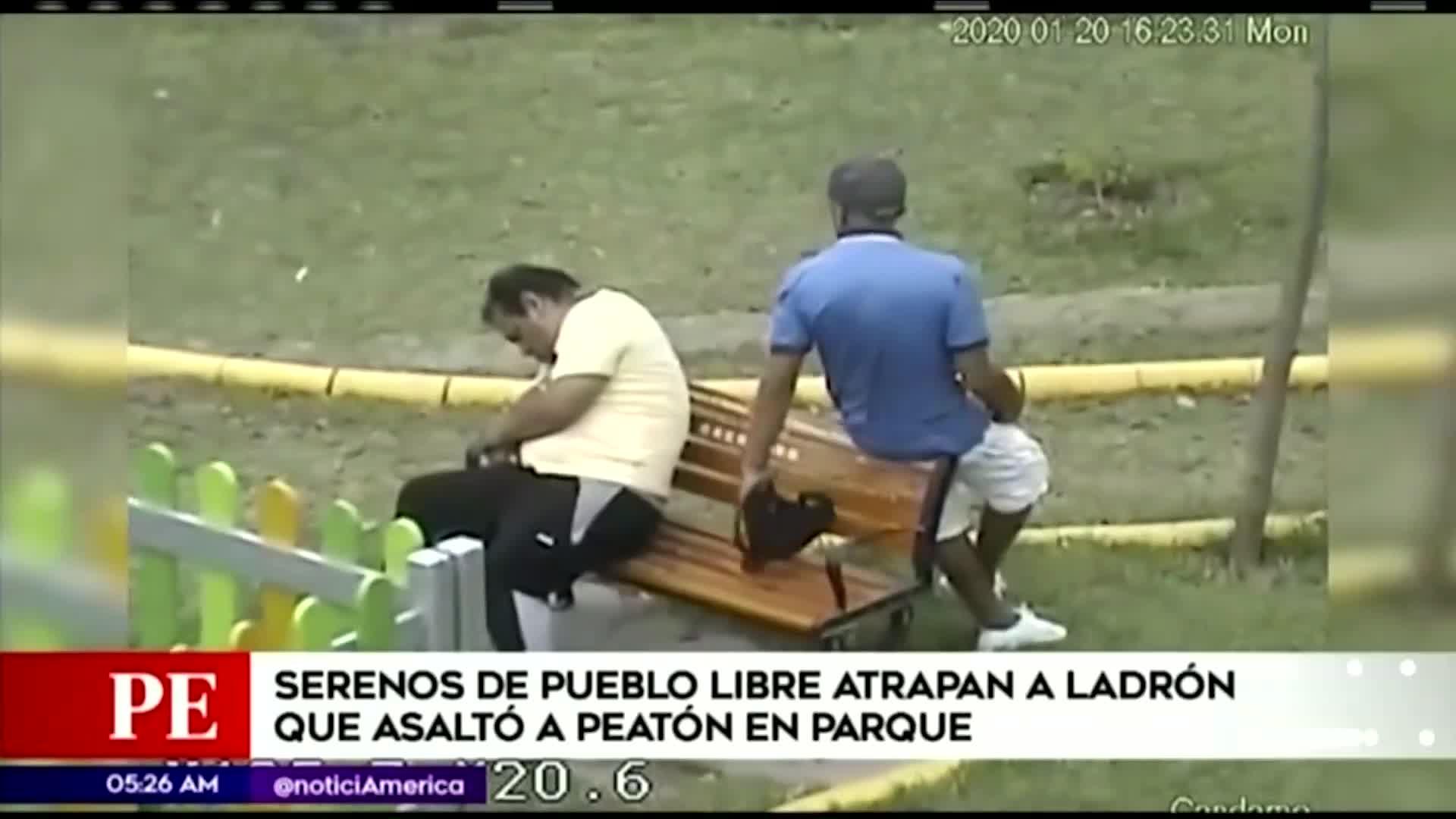 Pueblo Libre: serenos capturan a sujeto que asaltó a peatón en un parque