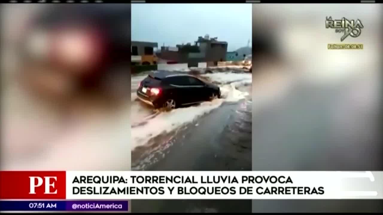 Arequipa: lluvias generan huaicos y bloqueos en carreteras