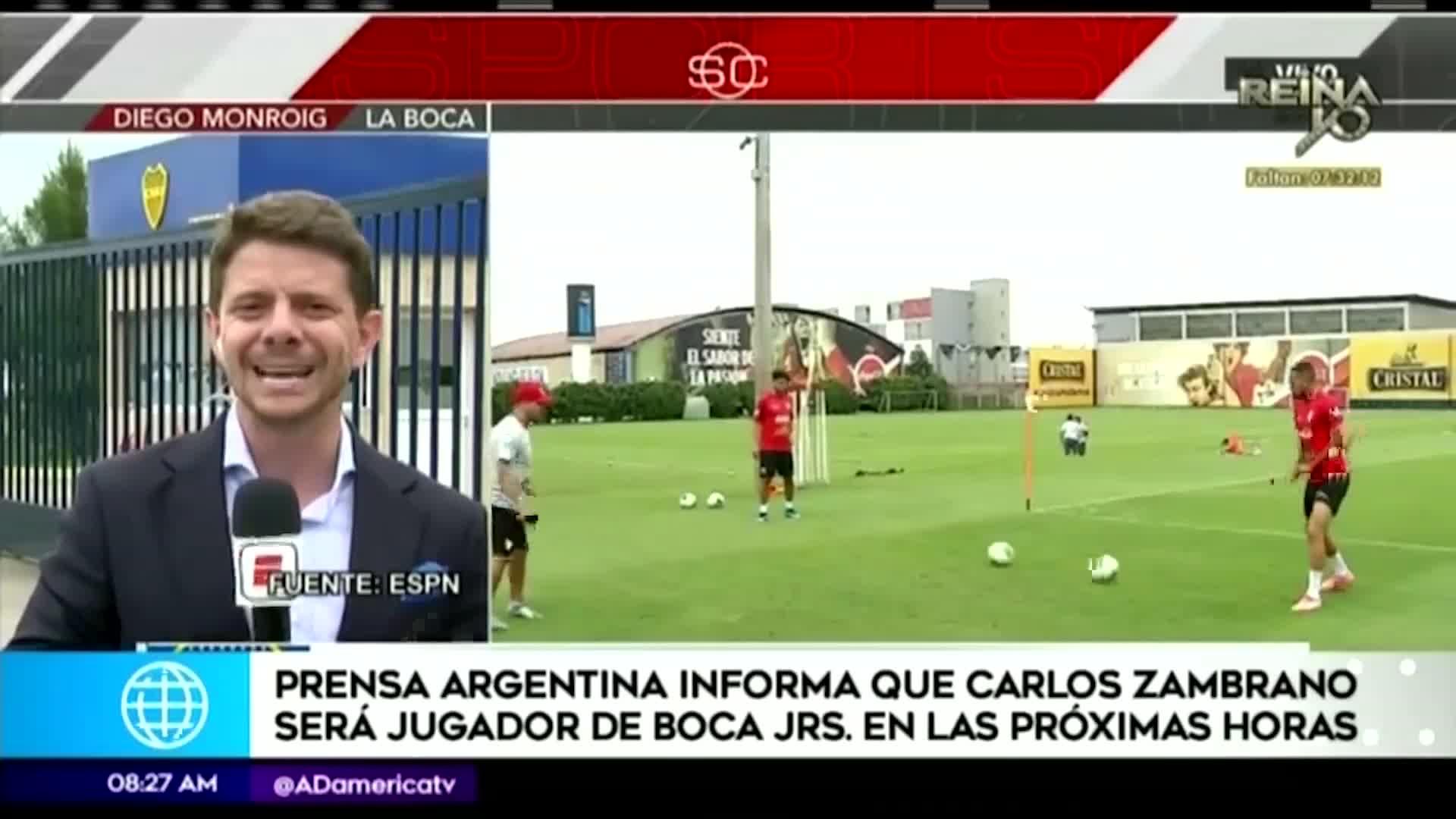 Carlos Zambrano: Cadena internacional asegura que fichaje por Boca Juniors es inminente