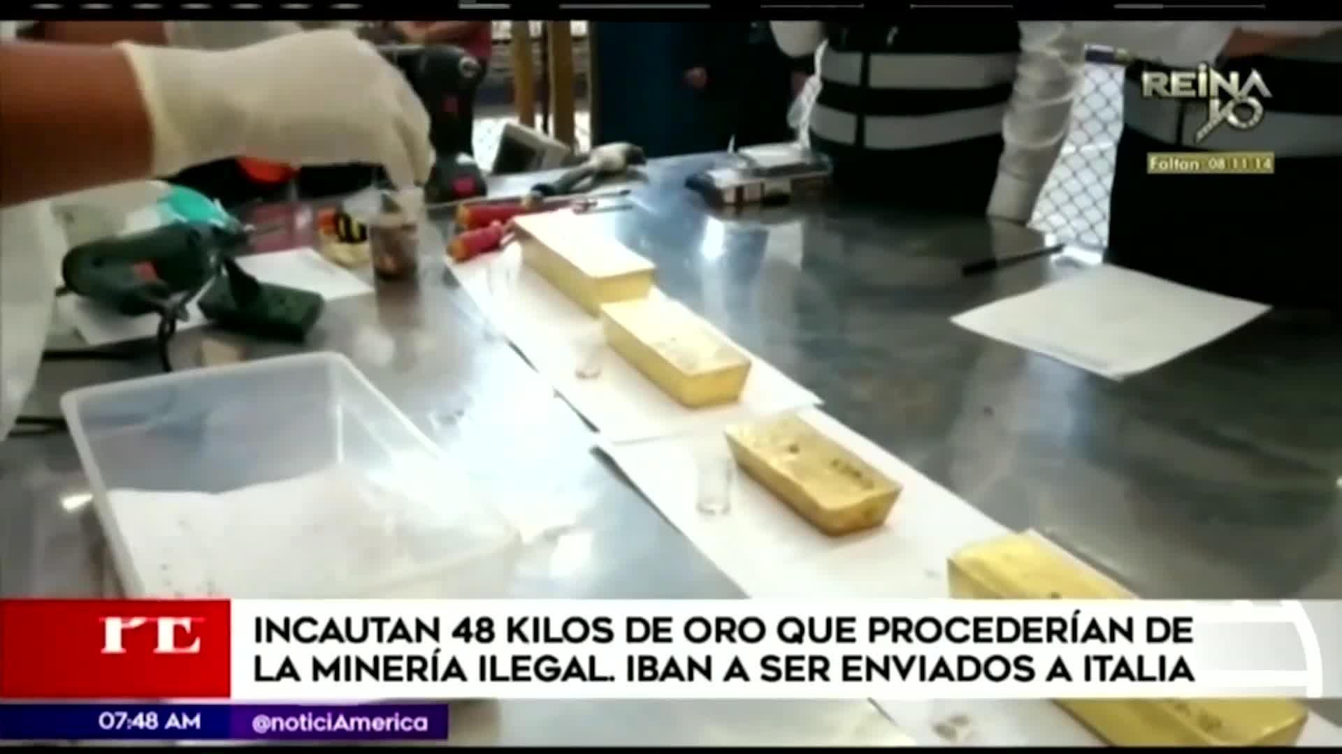 Callao: autoridades incautan 48 kilos de oro que provenía de la minería ilegal