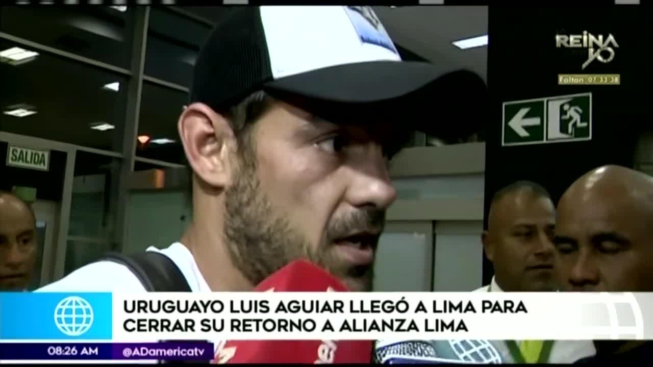"""Luis Aguiar a su llegada a Lima: """"Alianza tiene que salir campeón"""""""