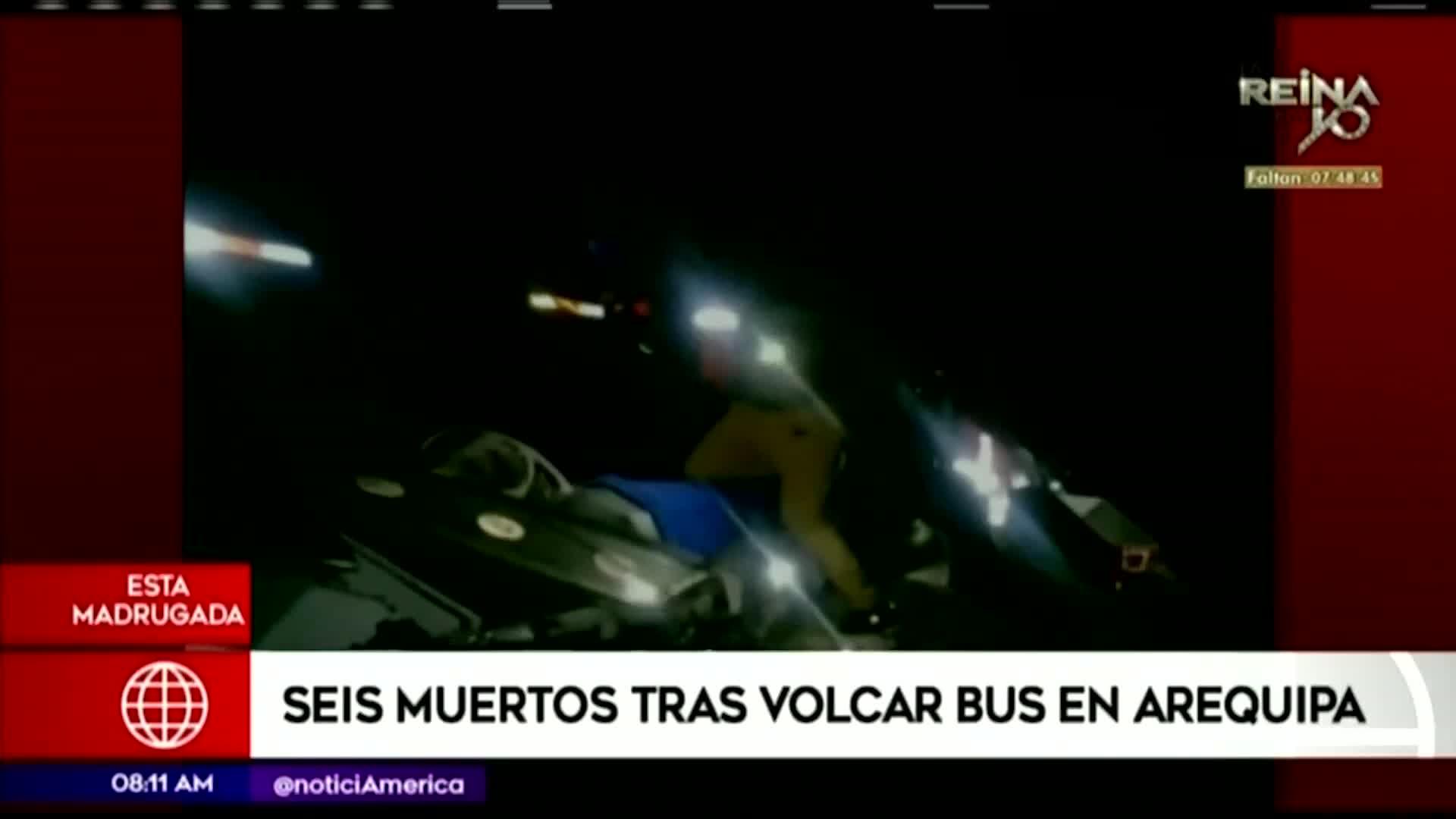 Arequipa: seis muertos y varios heridos tras caída de bus a abismo