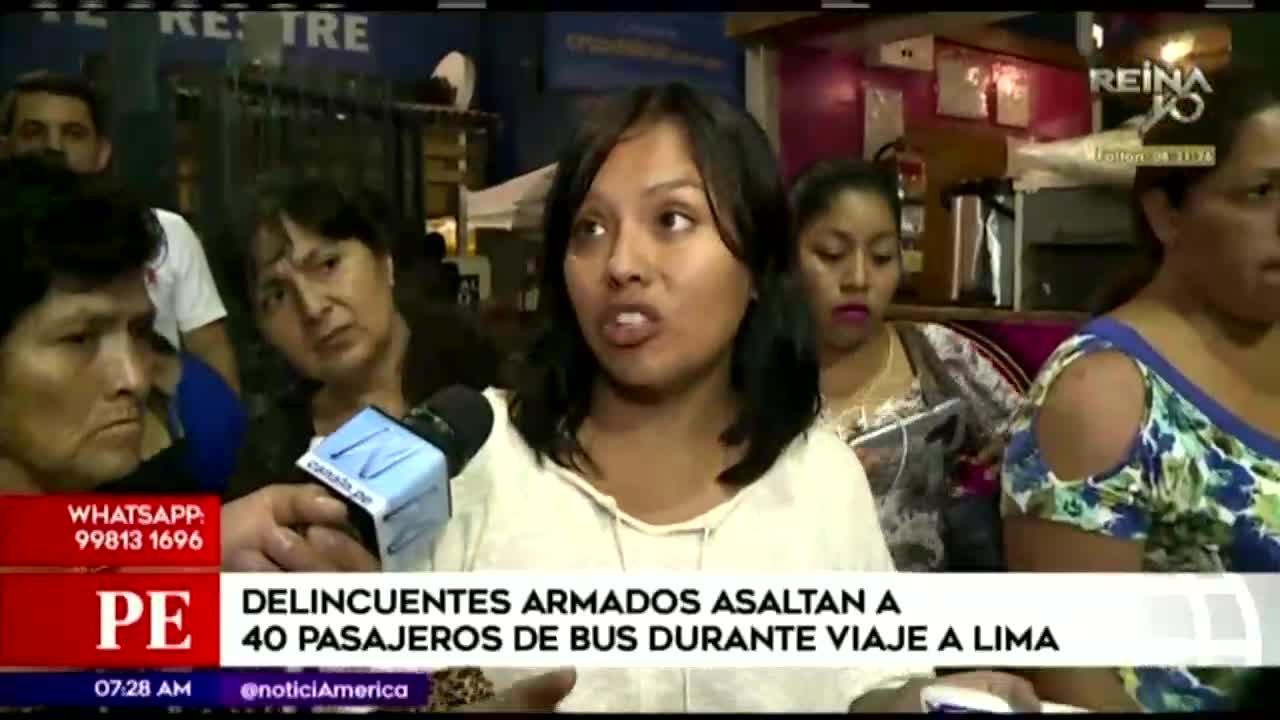 Delincuentes asaltan a pasajeros durante viaje a Lima