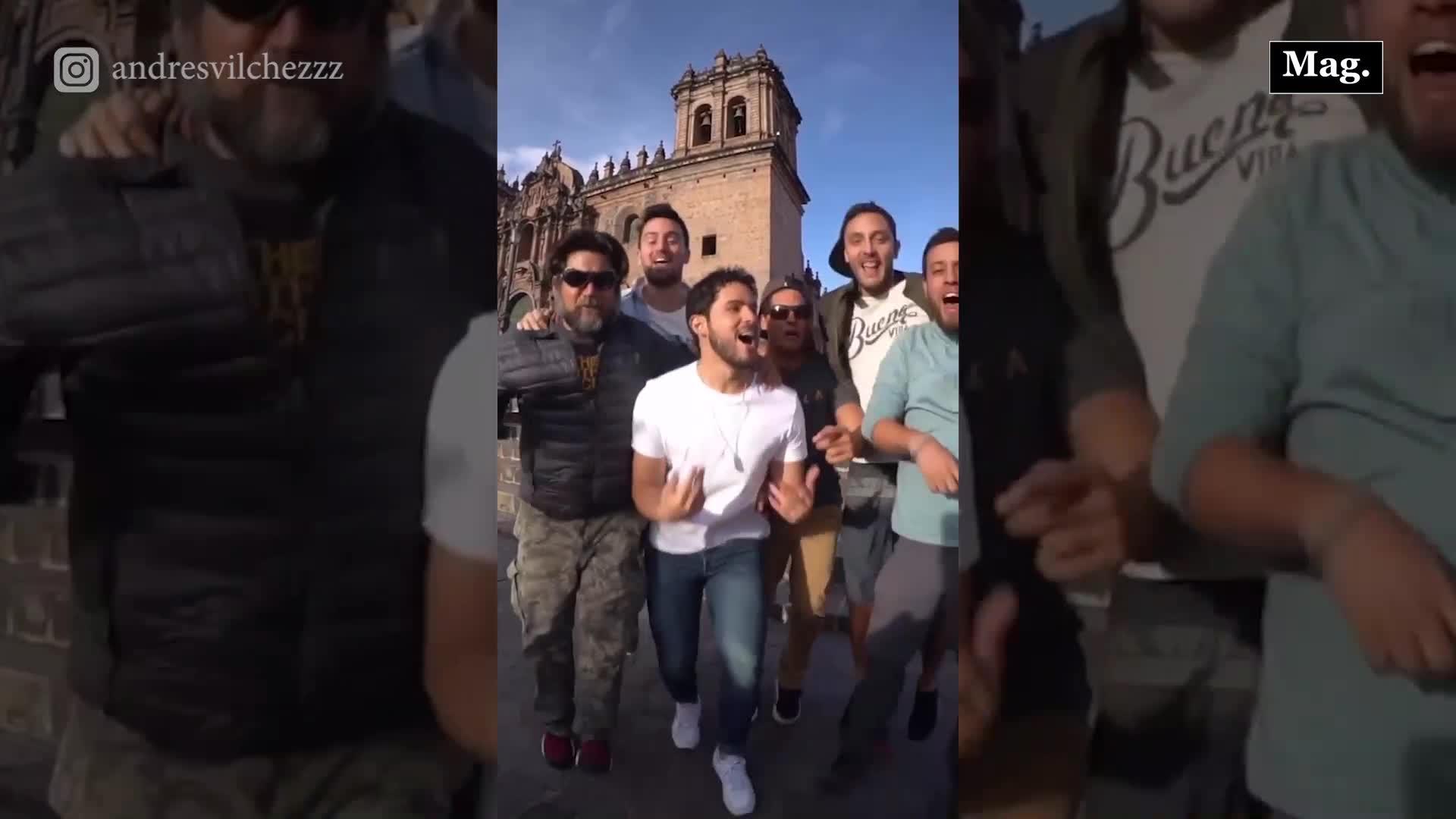 Andrés Vílchez y sus amigos sorprenden al bailar Tusa en Cusco