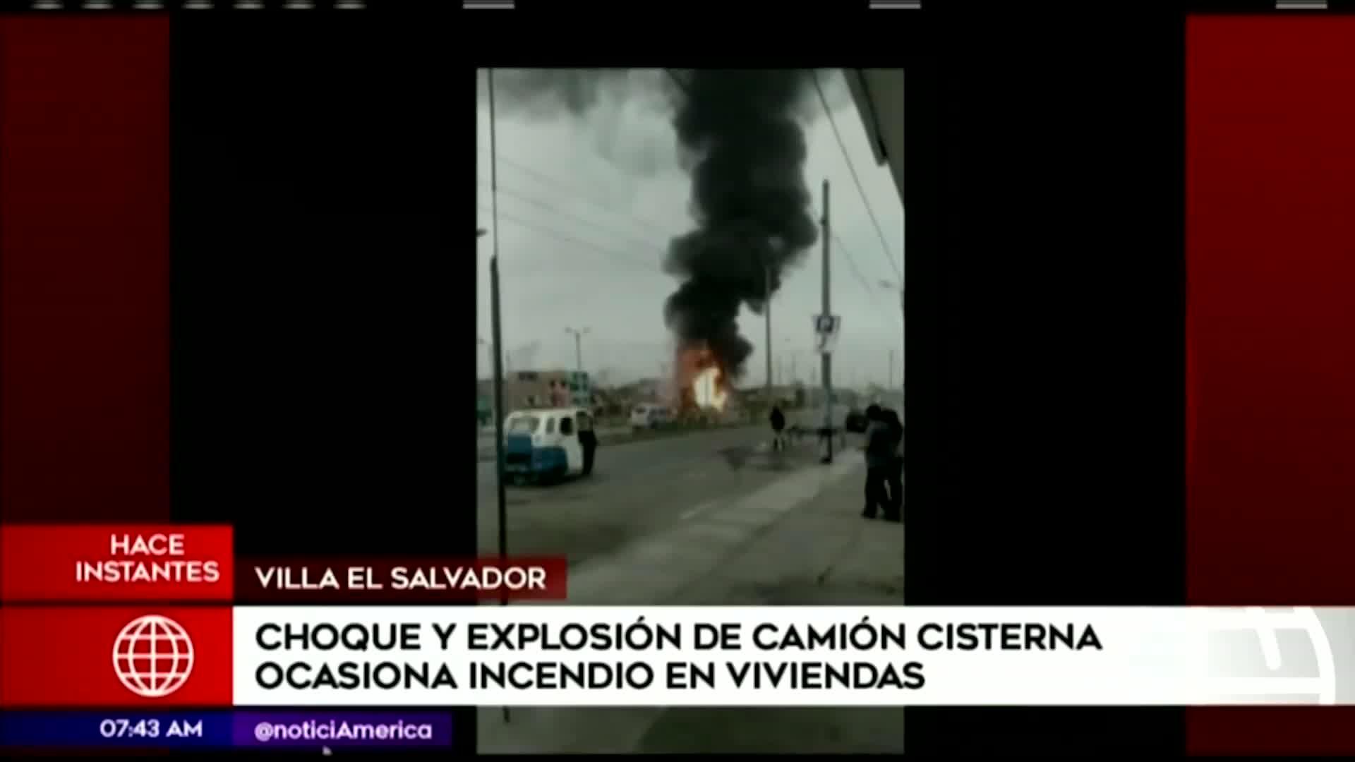 Incendio en VES: camión cisterna explota y provoca incendio en viviendas