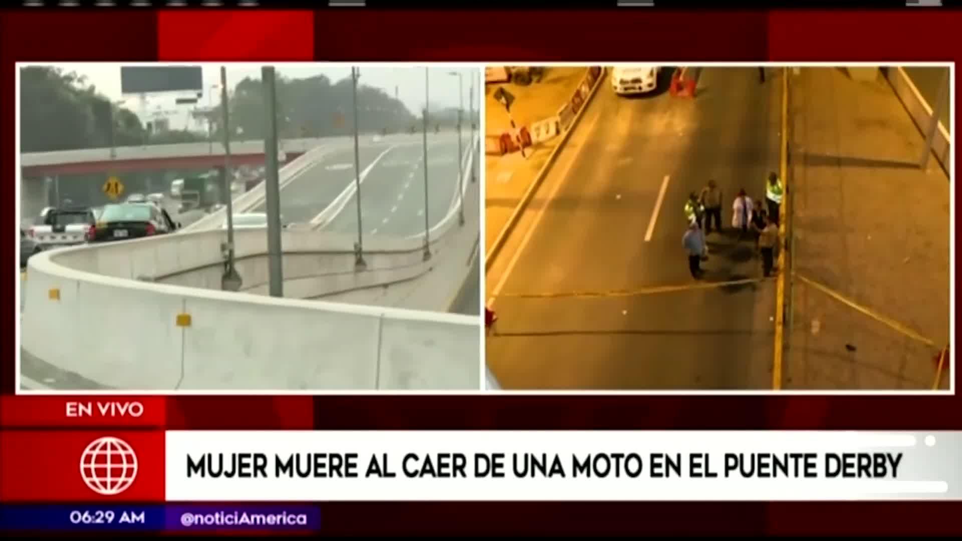 Surco: mujer muere tras caer de una motocicleta en el puente Derby