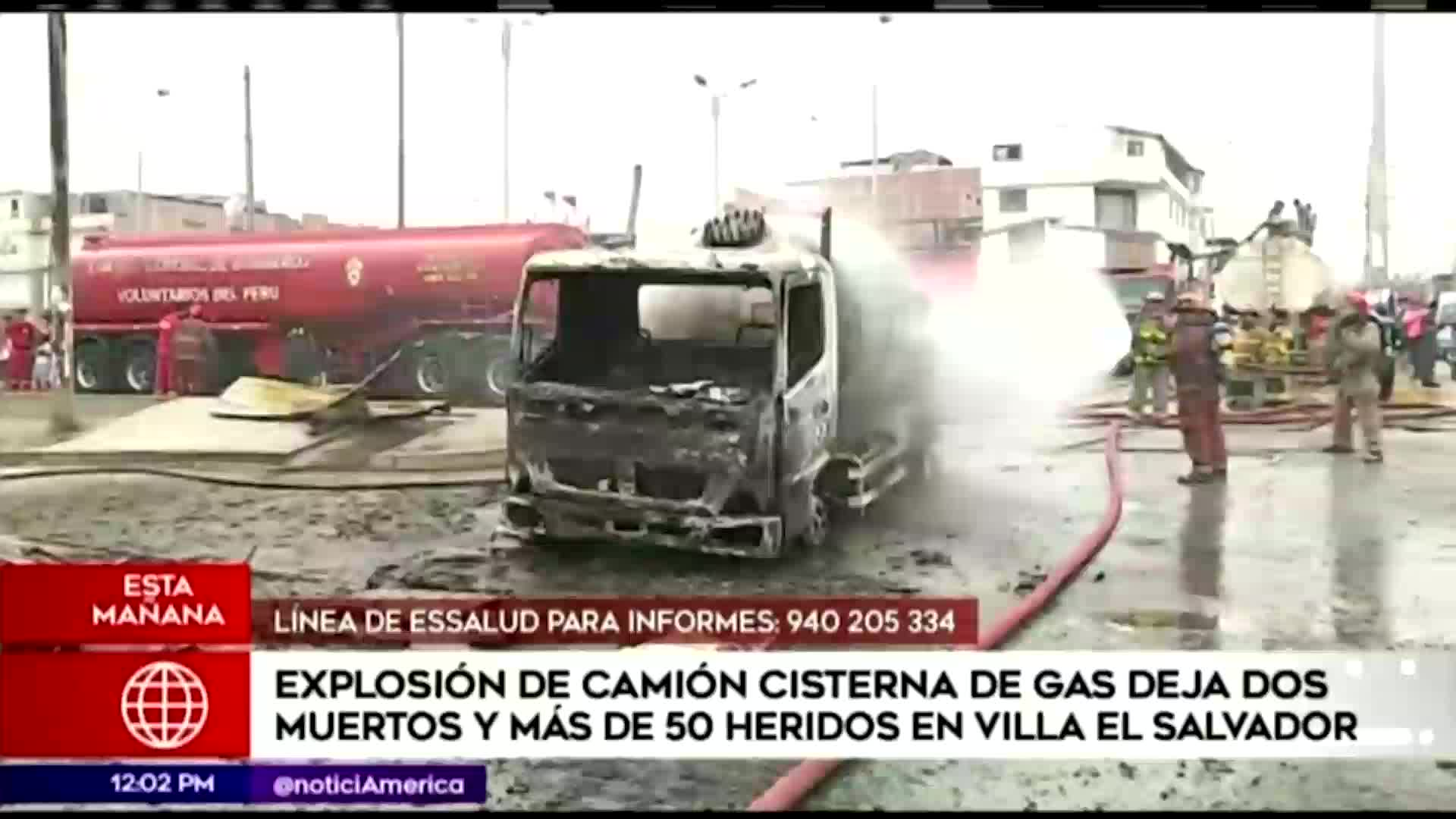 Incendio en VES: se elevan a dos los muertos por explosión de camión cisterna