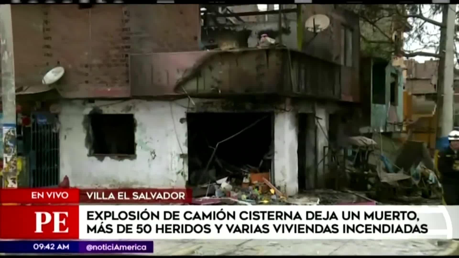Incendio en VES: recomendaciones tras explosión de camión cisterna de gas