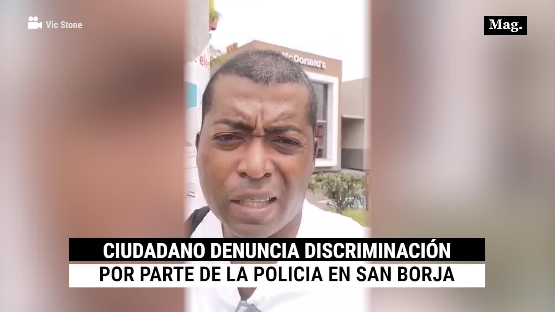 San Borja: Ciudadano denuncia discriminación