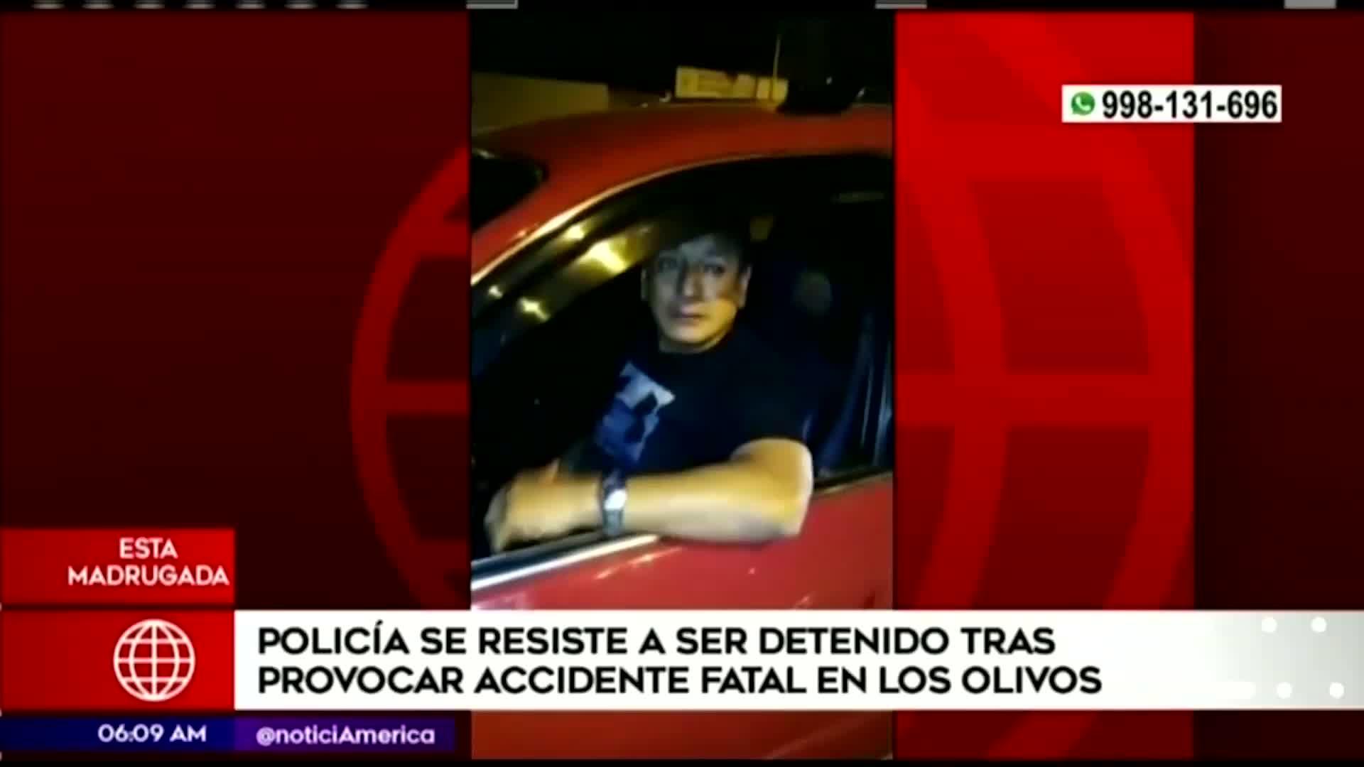 Los Olivos: policía ebrio impacta con minivan y mata a hombre en la Panamericana Norte