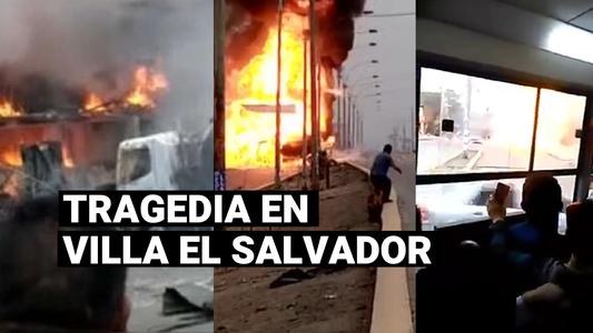 Villa El Salvador: Las imágenes más impactantes de la explosión del camión cisterna con gas