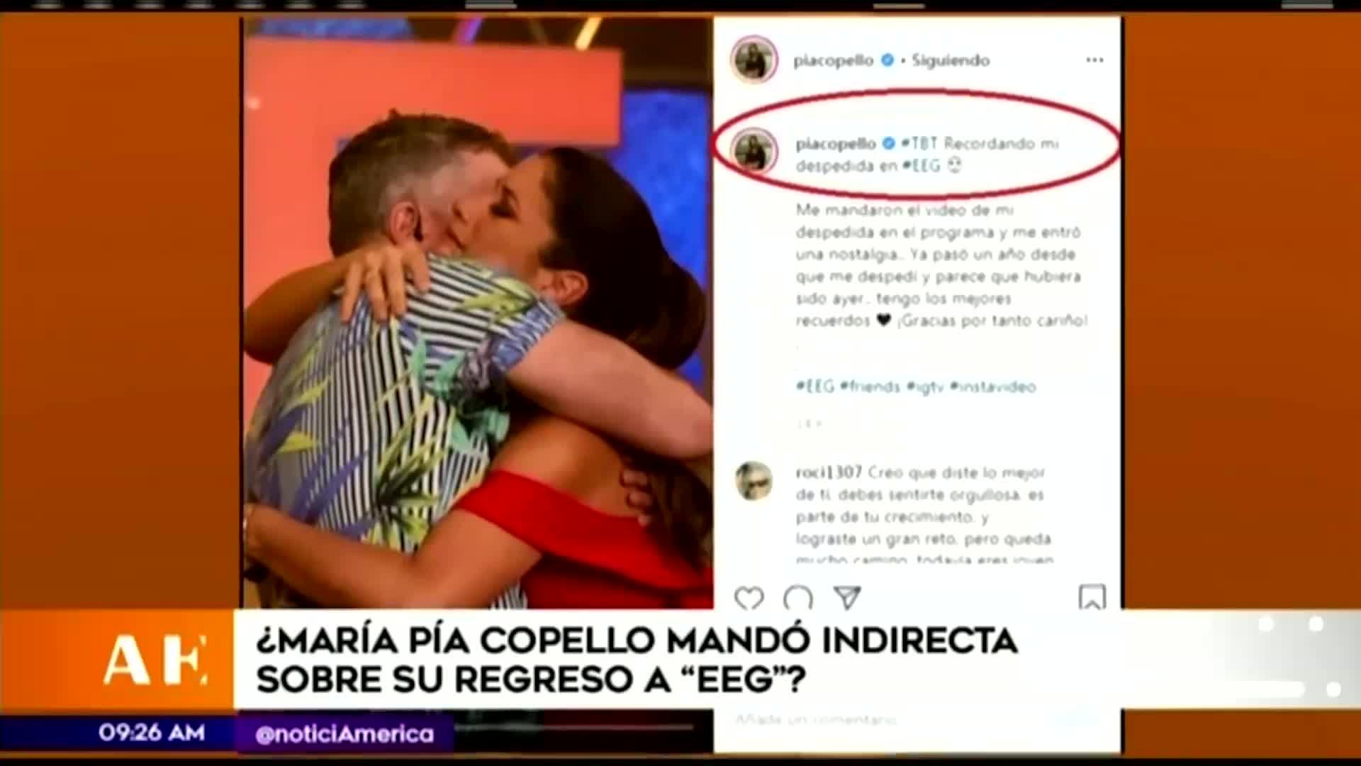 EEG: ¿María Pía Copello envía indirecta sobre su regreso?