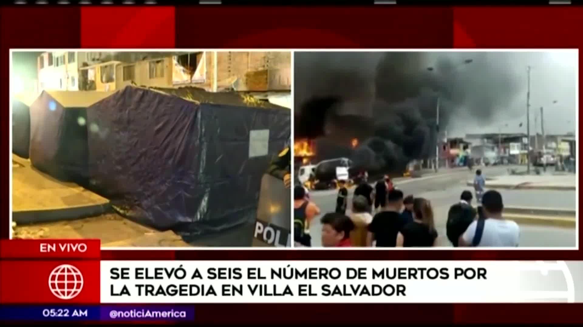 Tragedia en VES: damnificados por la explosión pasaron la noche en carpas