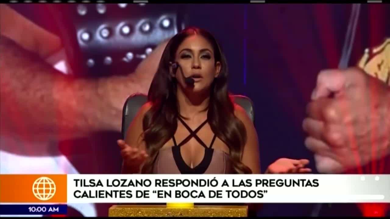 Tilsa Lozano reapareció en los medios y evitó referirse de Olinda Castañeda