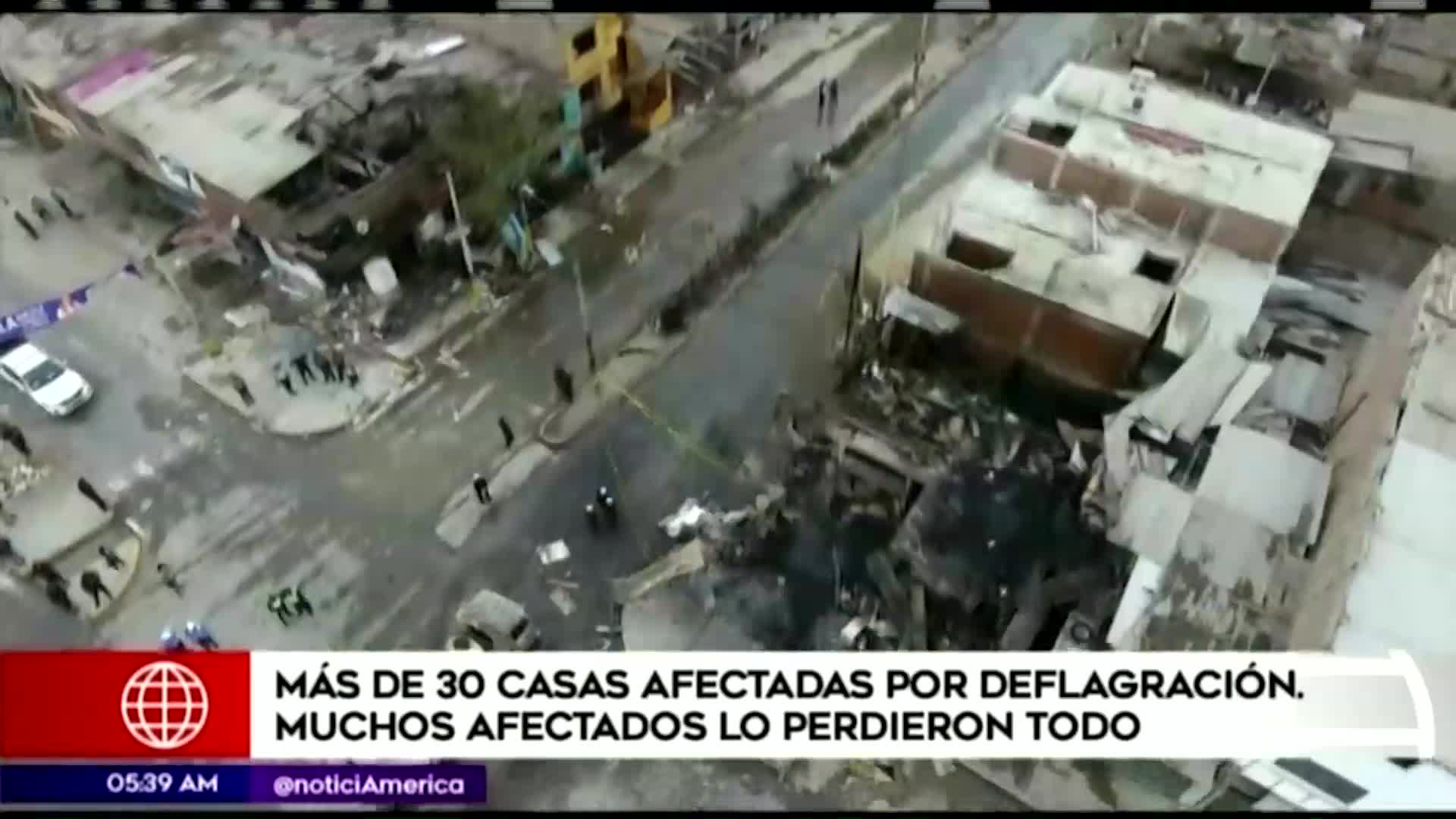 Tragedia en VES: más de 30 viviendas fueron afectadas por la explosión