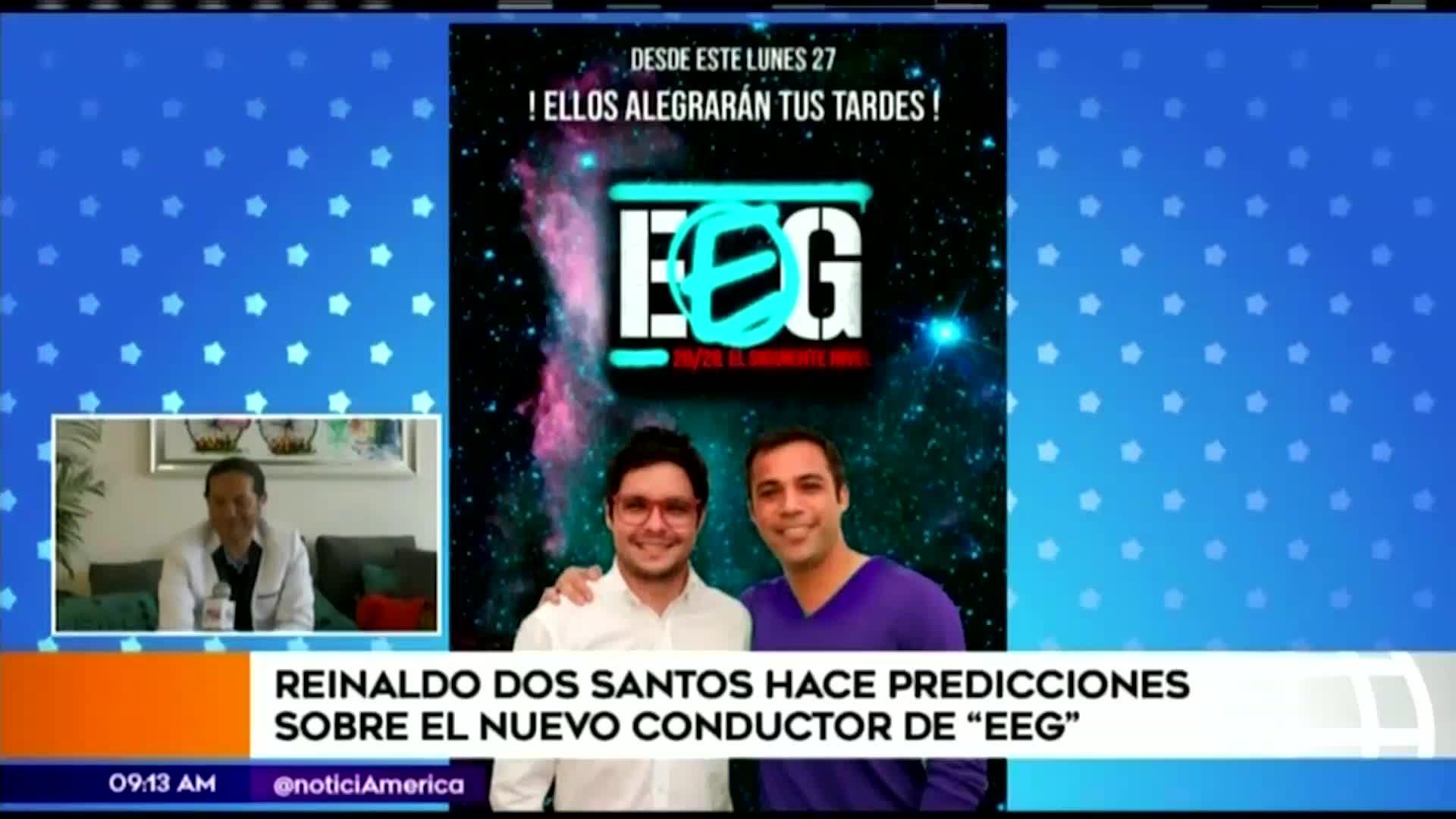 EEG: Reinaldo Dos Santos hace predicciones sobre el nuevo conductor del reality