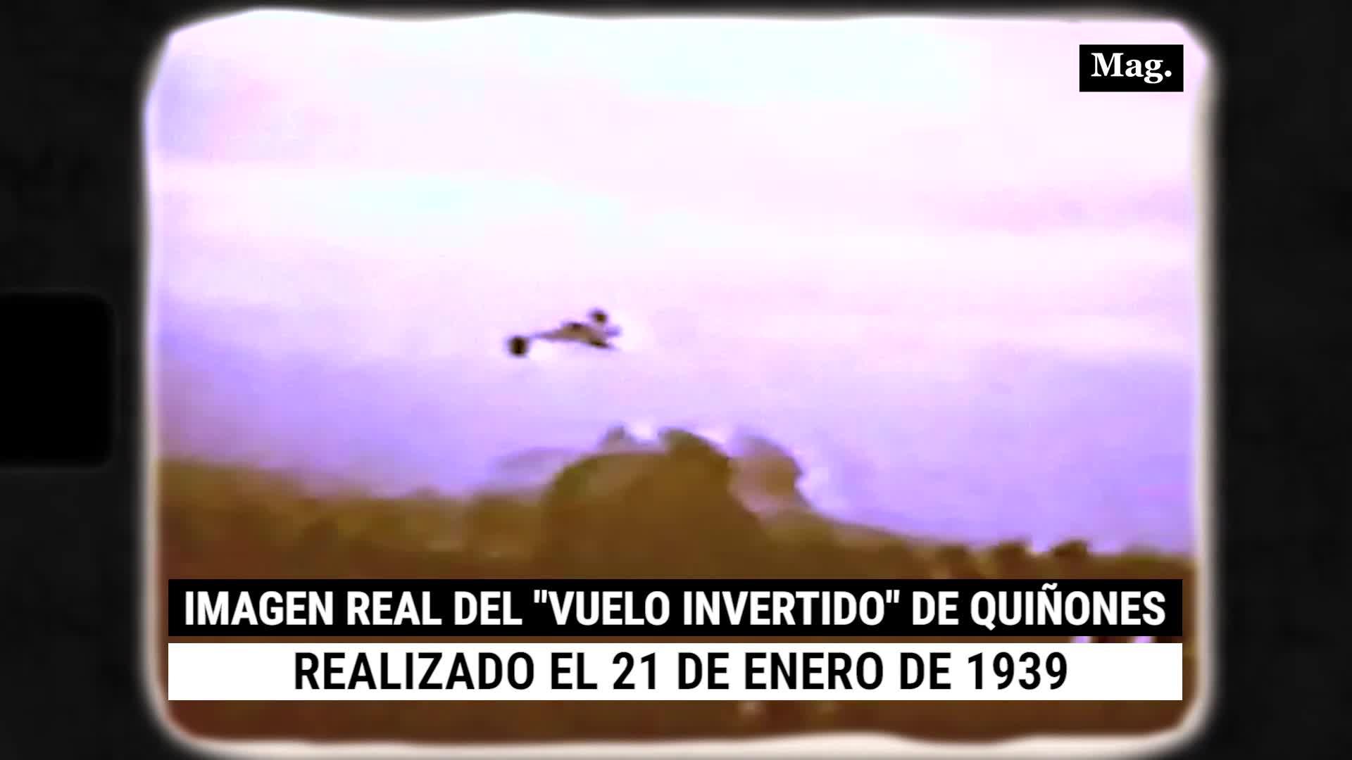 """José Abelardo Quiñones: las imágenes nunca antes vistas de su mítico """"vuelo invertido"""" realizado en 1939"""