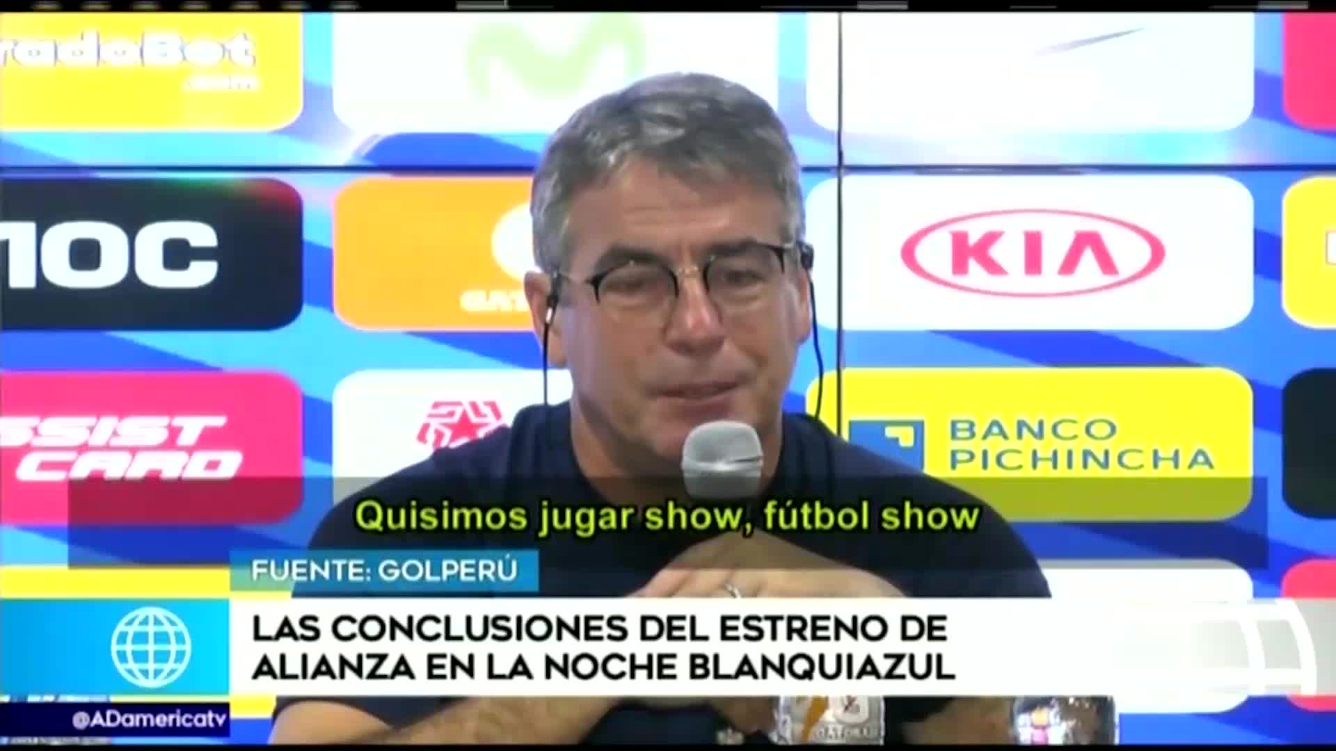 Pablo Bengoechea analizó el rendimiento de sus jugadores en la 'Noche Blanquiazul'