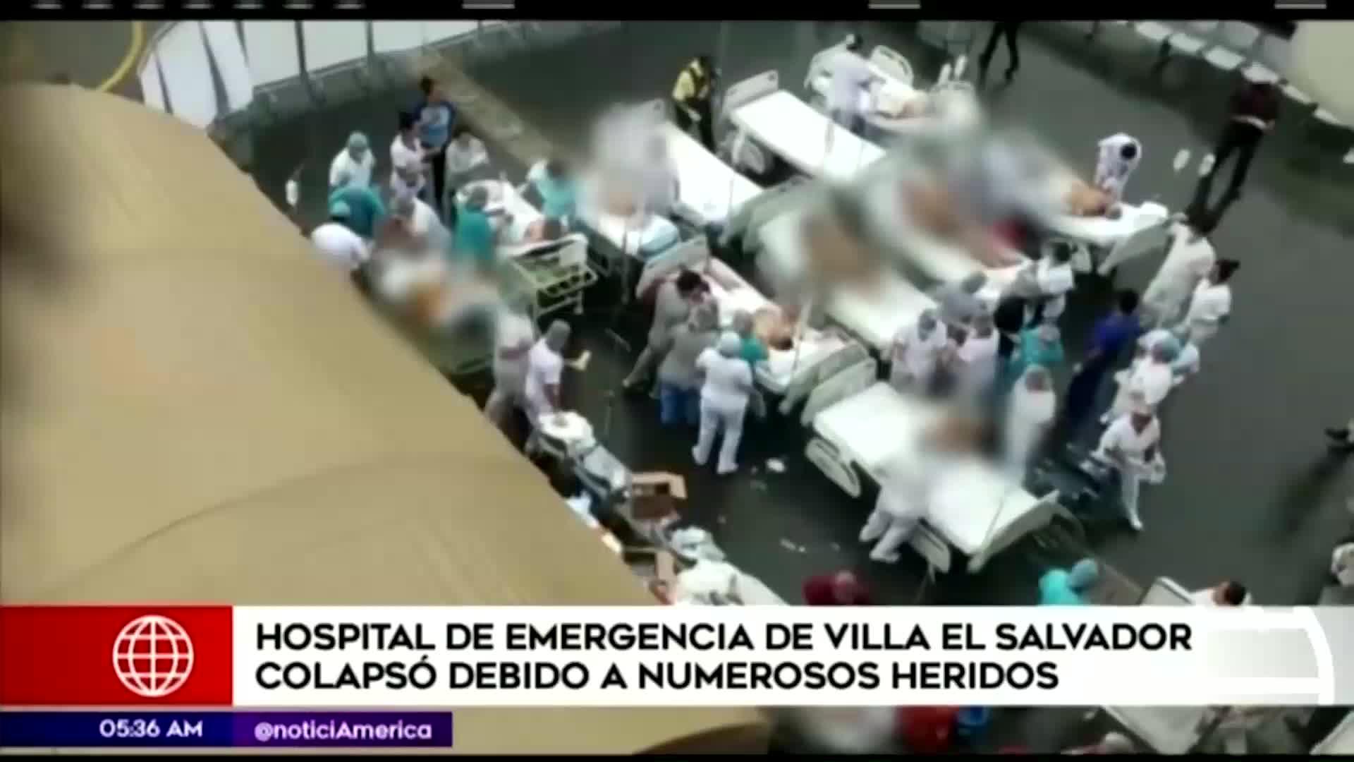 Tragedia en VES: hospital colapsó debido a la cantidad de heridos tras la explosión