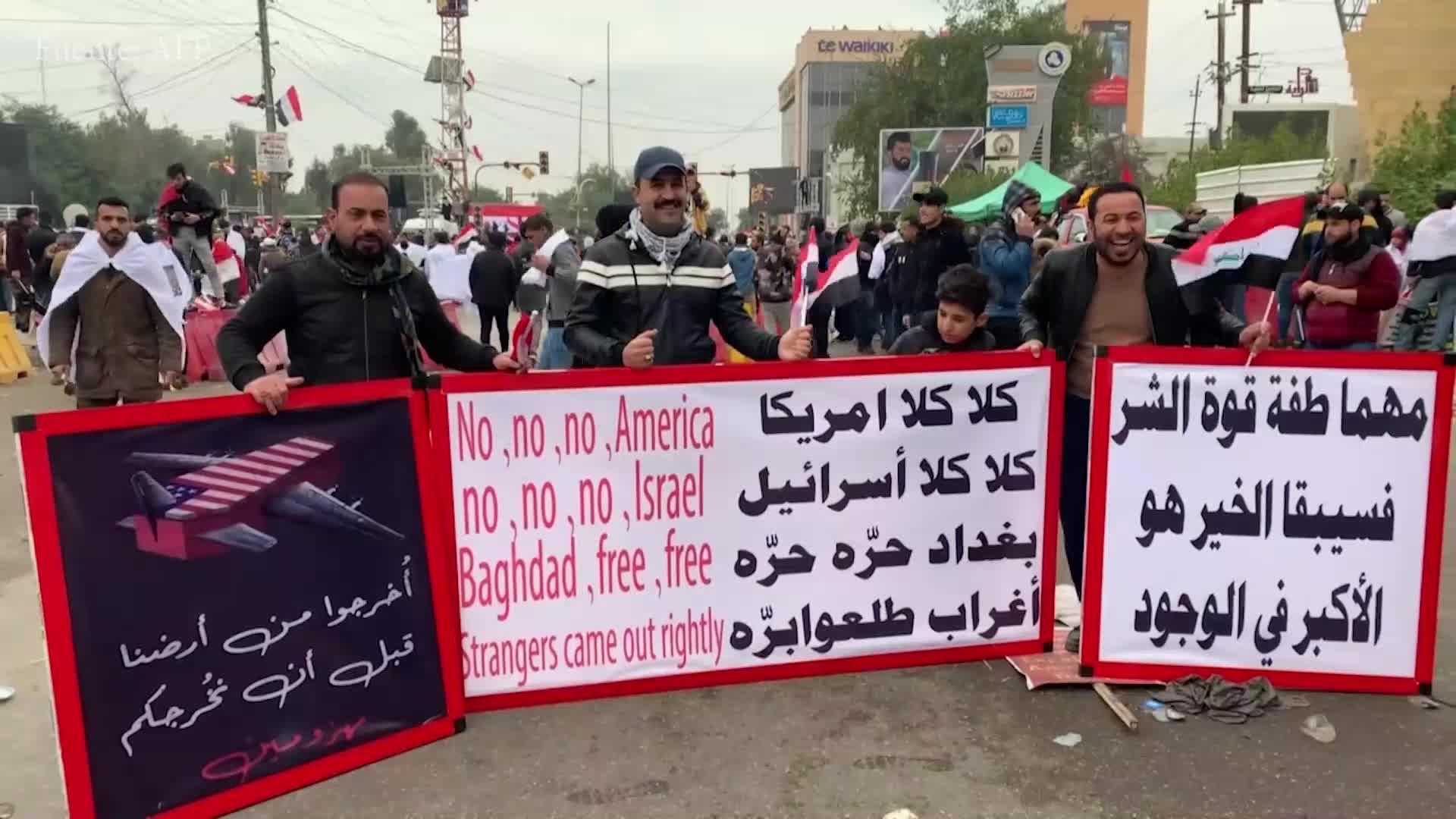 Miles de iraquíes piden retirada de tropas de EEUU en multitudinaria manifestación en Bagdad
