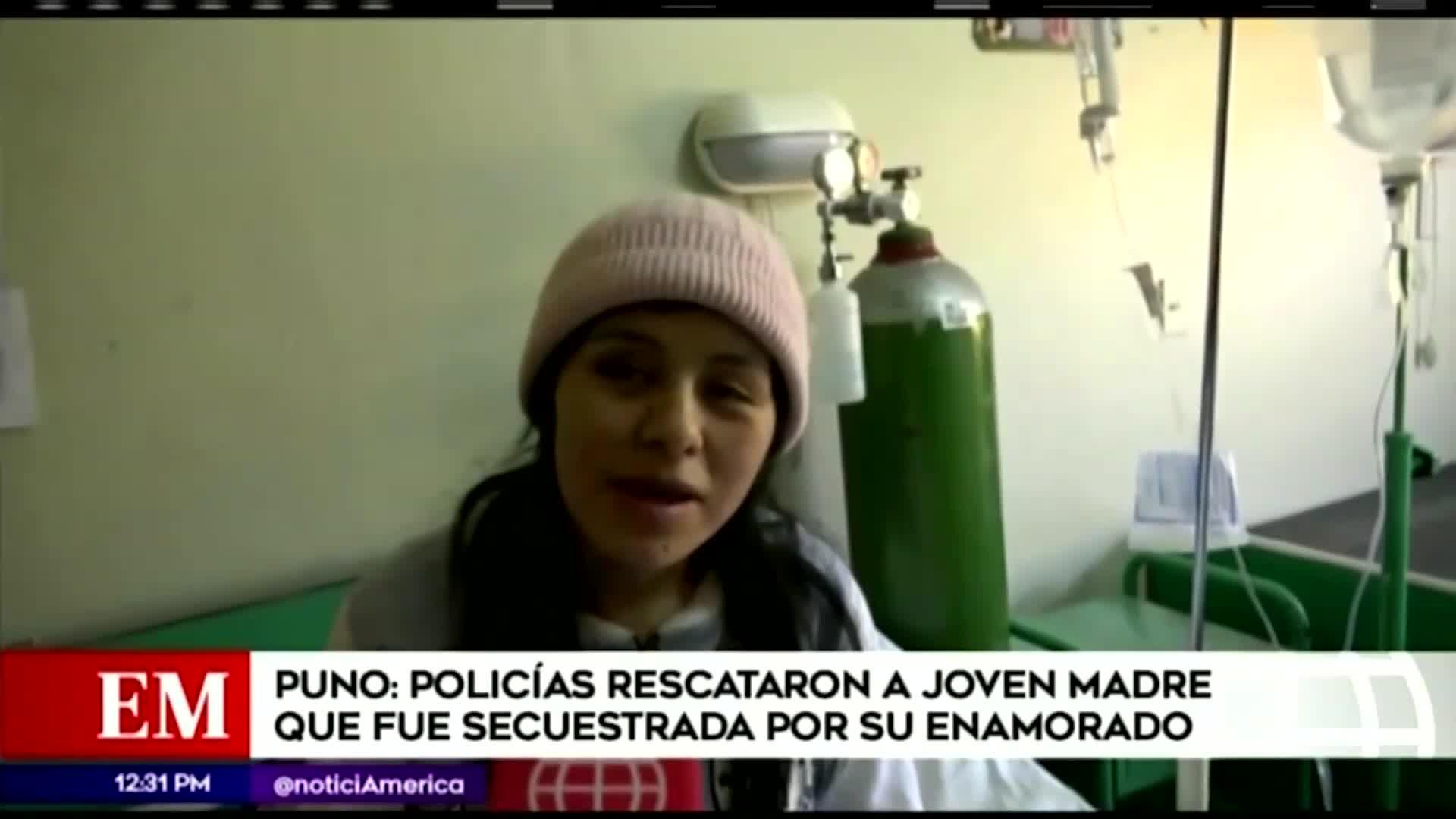 Policía rescata a joven secuestrada por su enamorado en Puno
