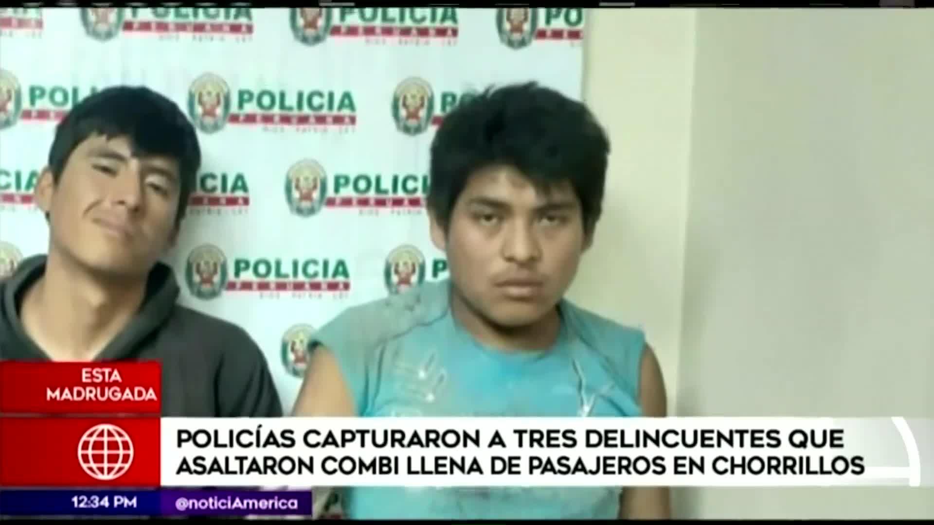 Delincuentes asaltan combi en Chorrillos
