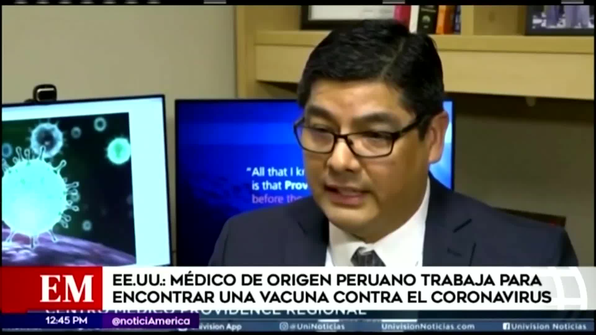 Médico de origen peruano a cargo de encontrar la vacuna contra el coronavirus