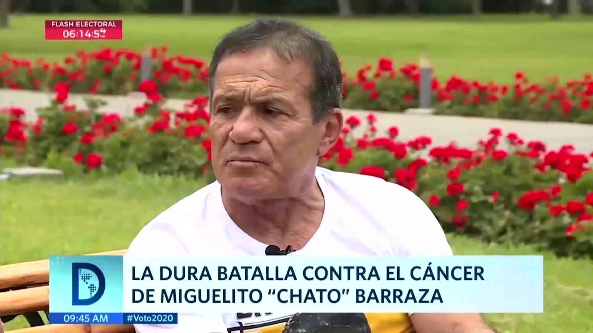"""Miguel """"chato"""" Barraza y su lucha contra el cáncer"""