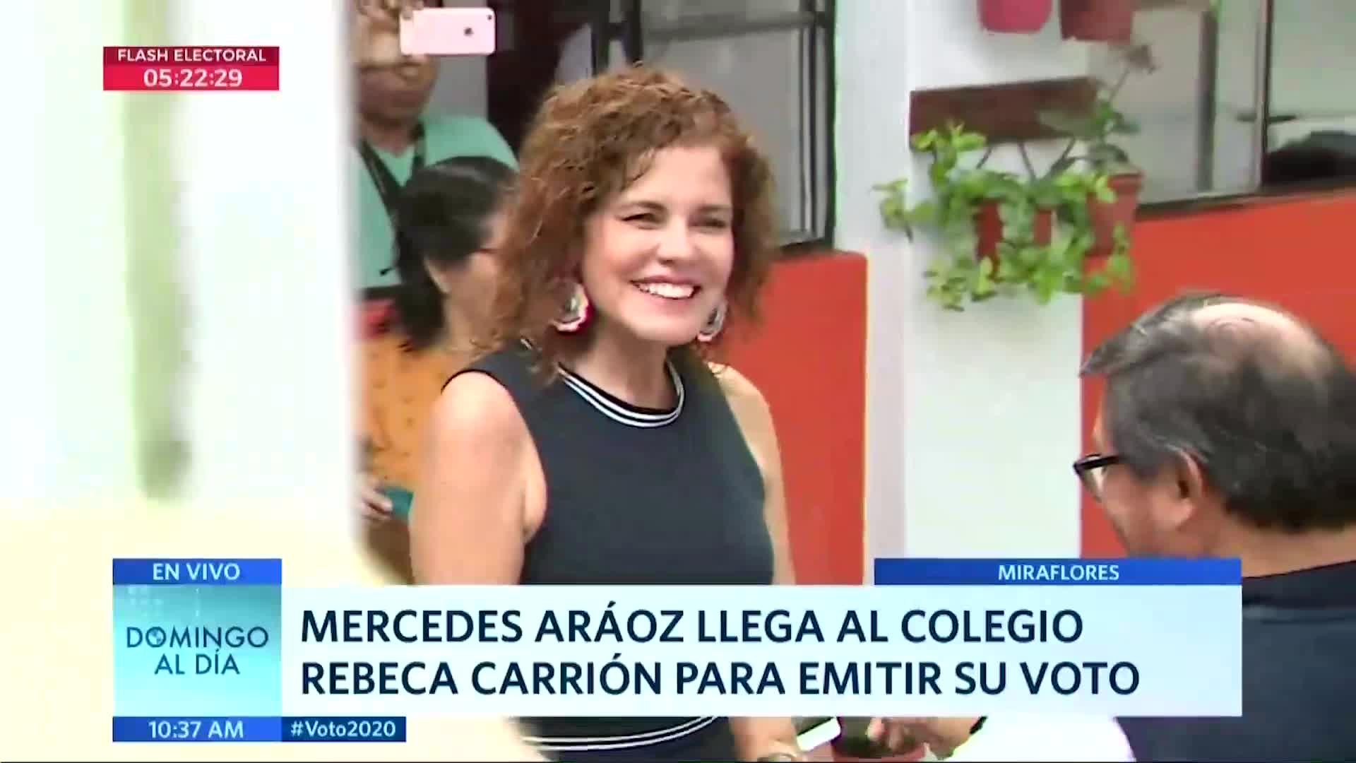 Elecciones 2020: Mercedes Aráoz acudió a cumplir su deber cívico