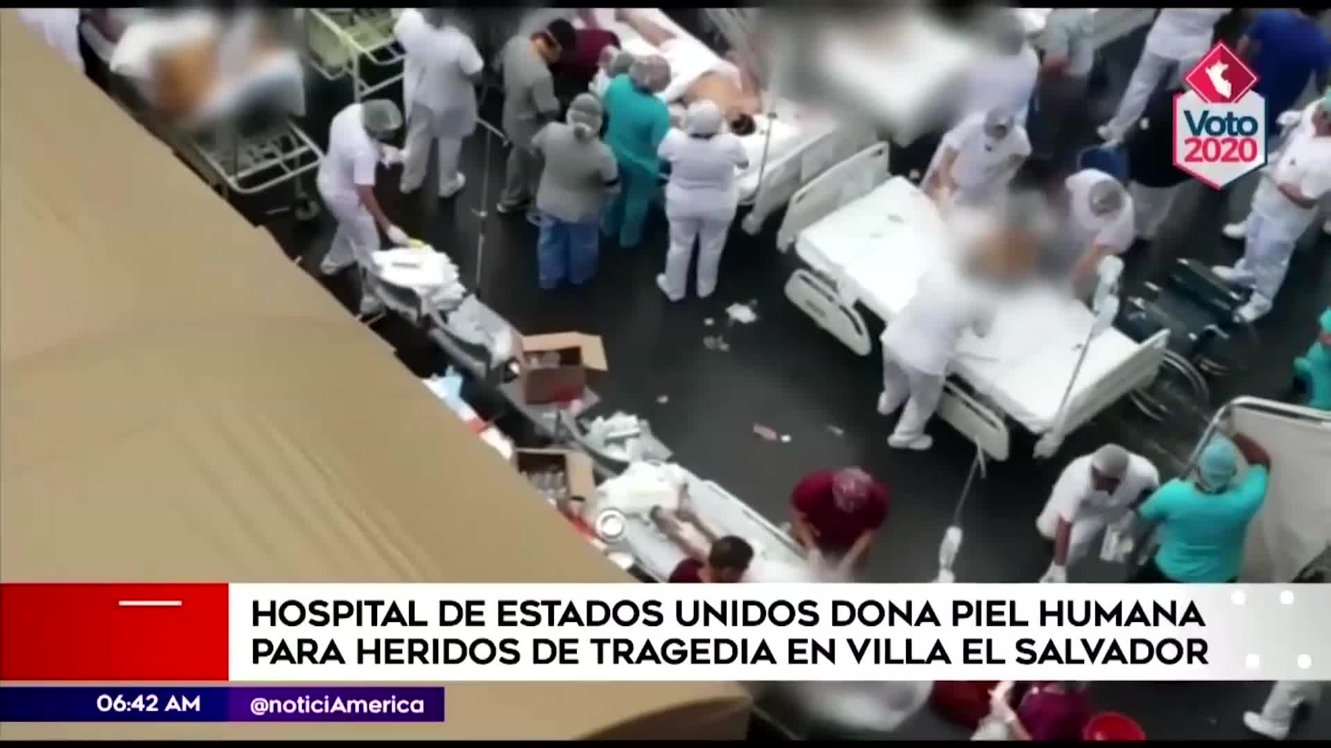 Incendio en VES: Estados Unidos envía donación de piel humana para ayudar a víctimas