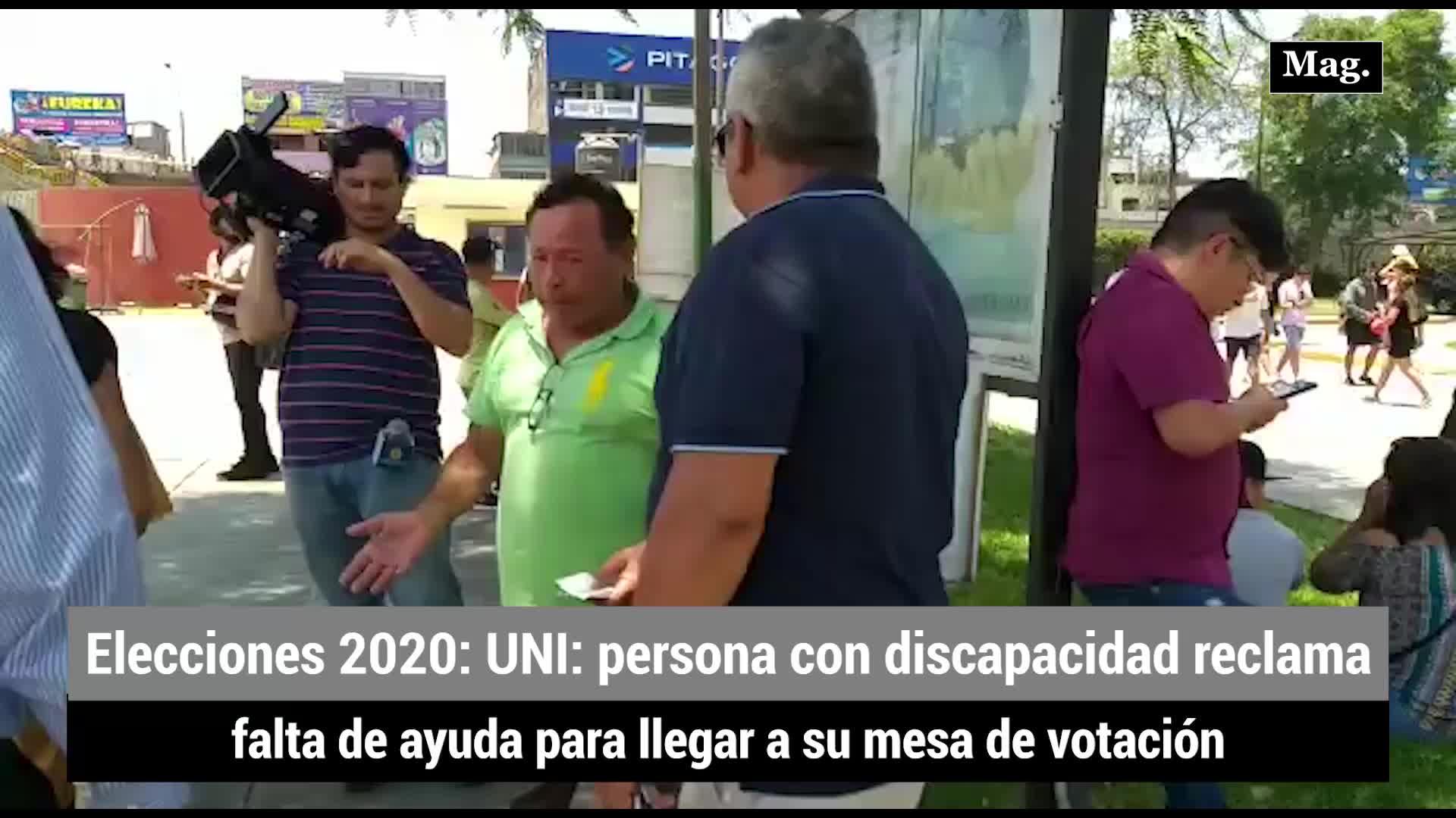 Elecciones 2020: persona con discapacidad reclama falta de ayuda para llegar a su mesa de votación