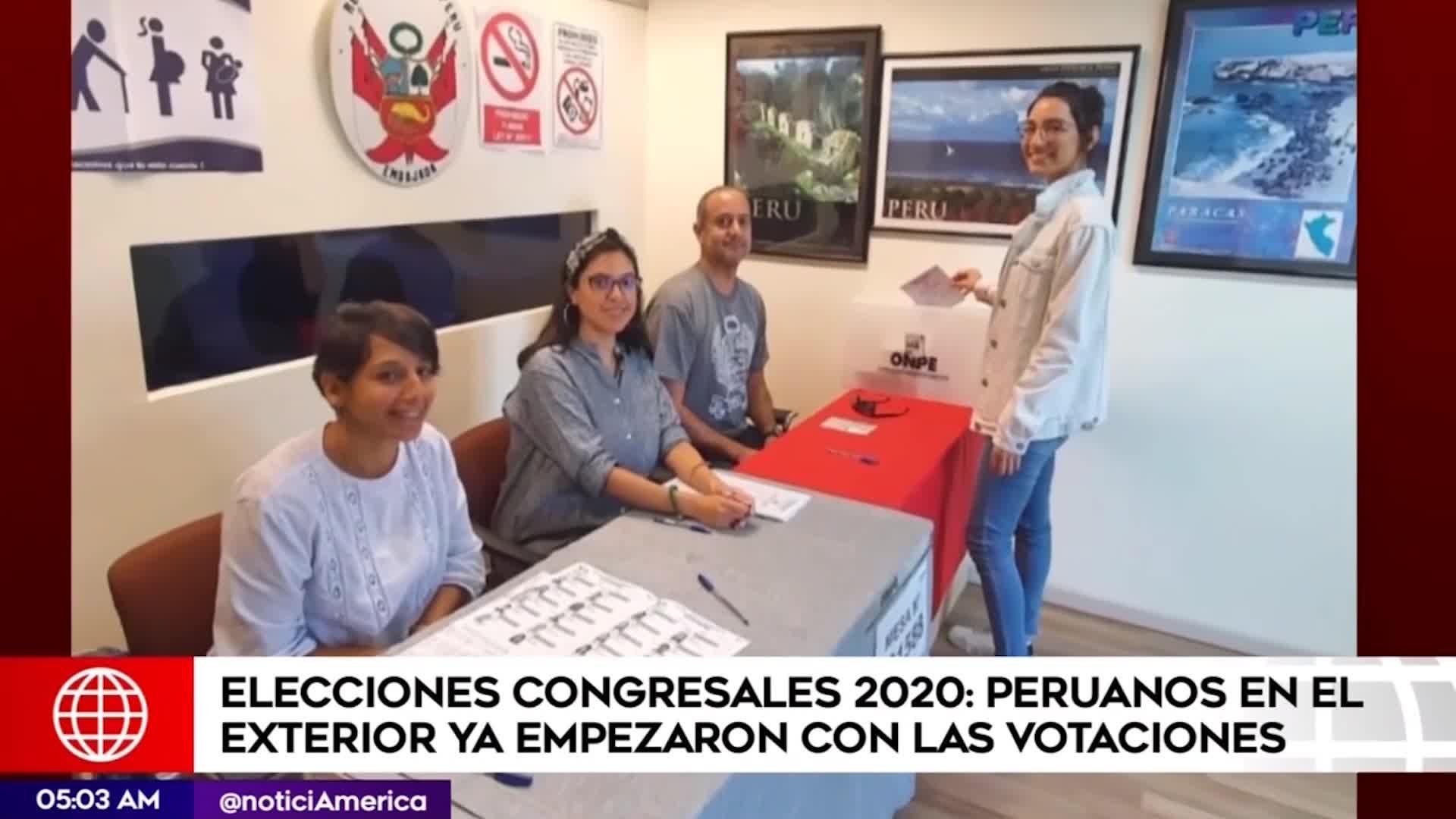 ELECCIONES 2020: así se viven las votaciones congresales al exterior del país