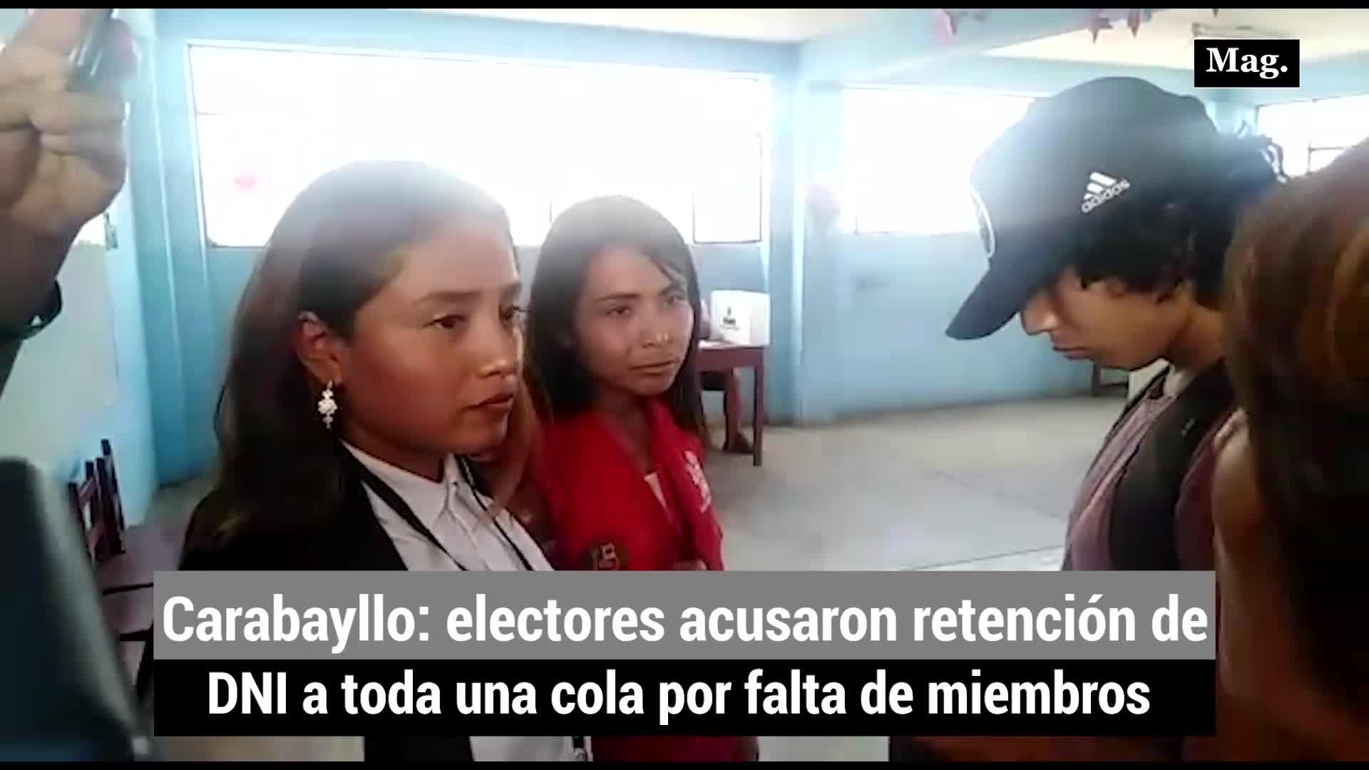 Elecciones 2020: Electores acusaron retención de DNI en Carabayllo