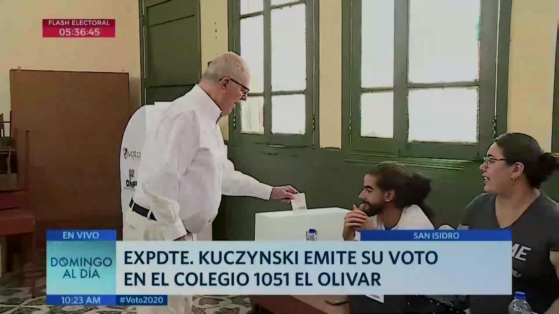 Elecciones 2020: expresidente Pedro Pablo Kuczynski emitió su voto tras permiso judicial