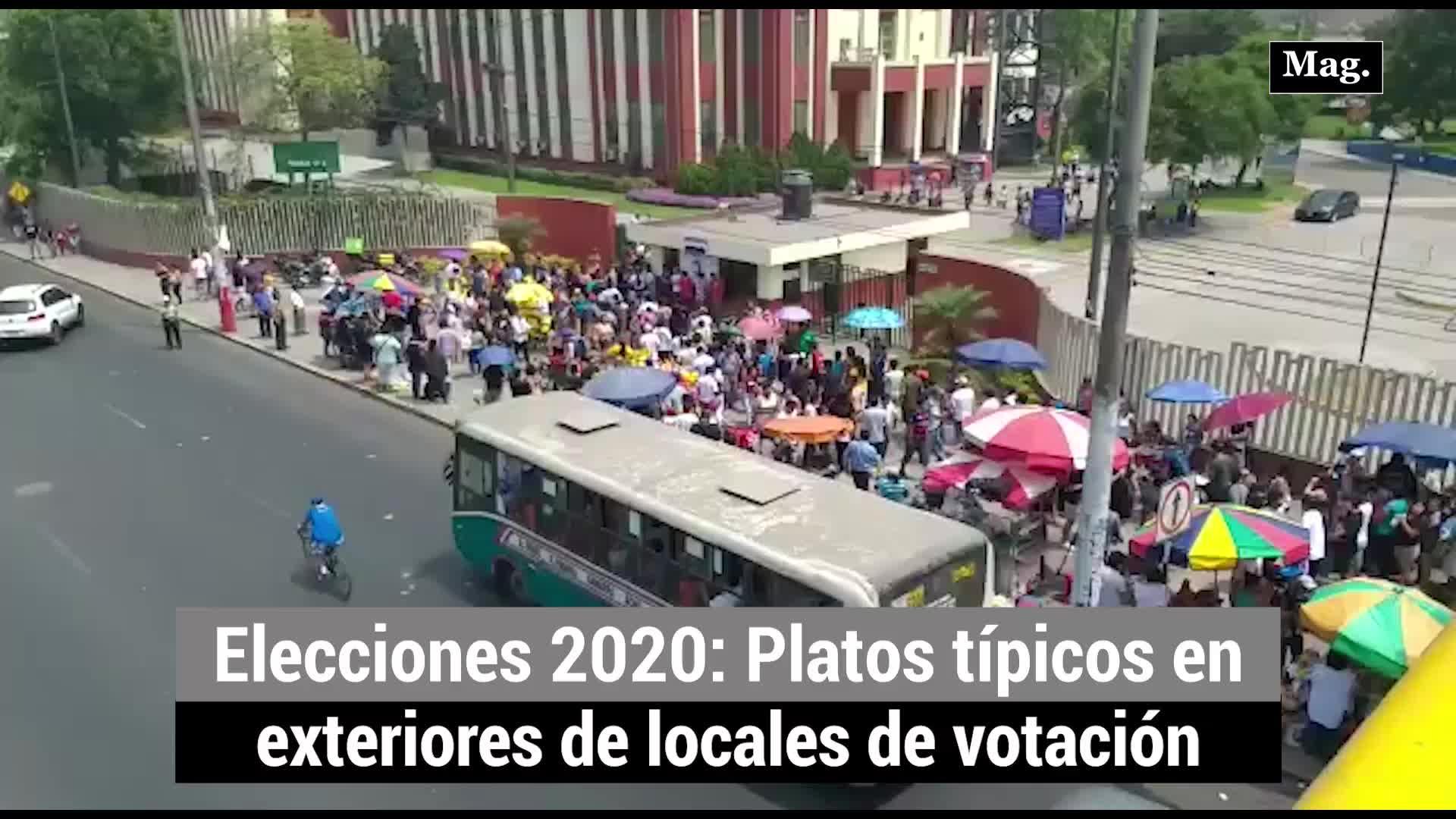 Elecciones 2020: Platos típicos en exteriores de locales de votación