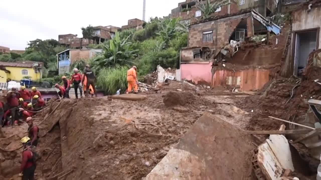 Aumenta el número de muertos por fuertes lluvias en sudeste de Brasil