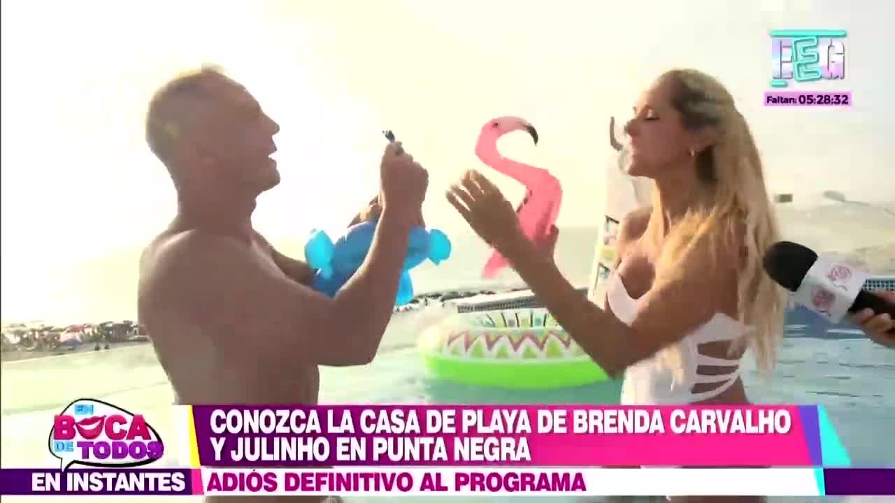 EBT: Julinho y Brenda Carvalho disfrutan del verano en su casa de playa