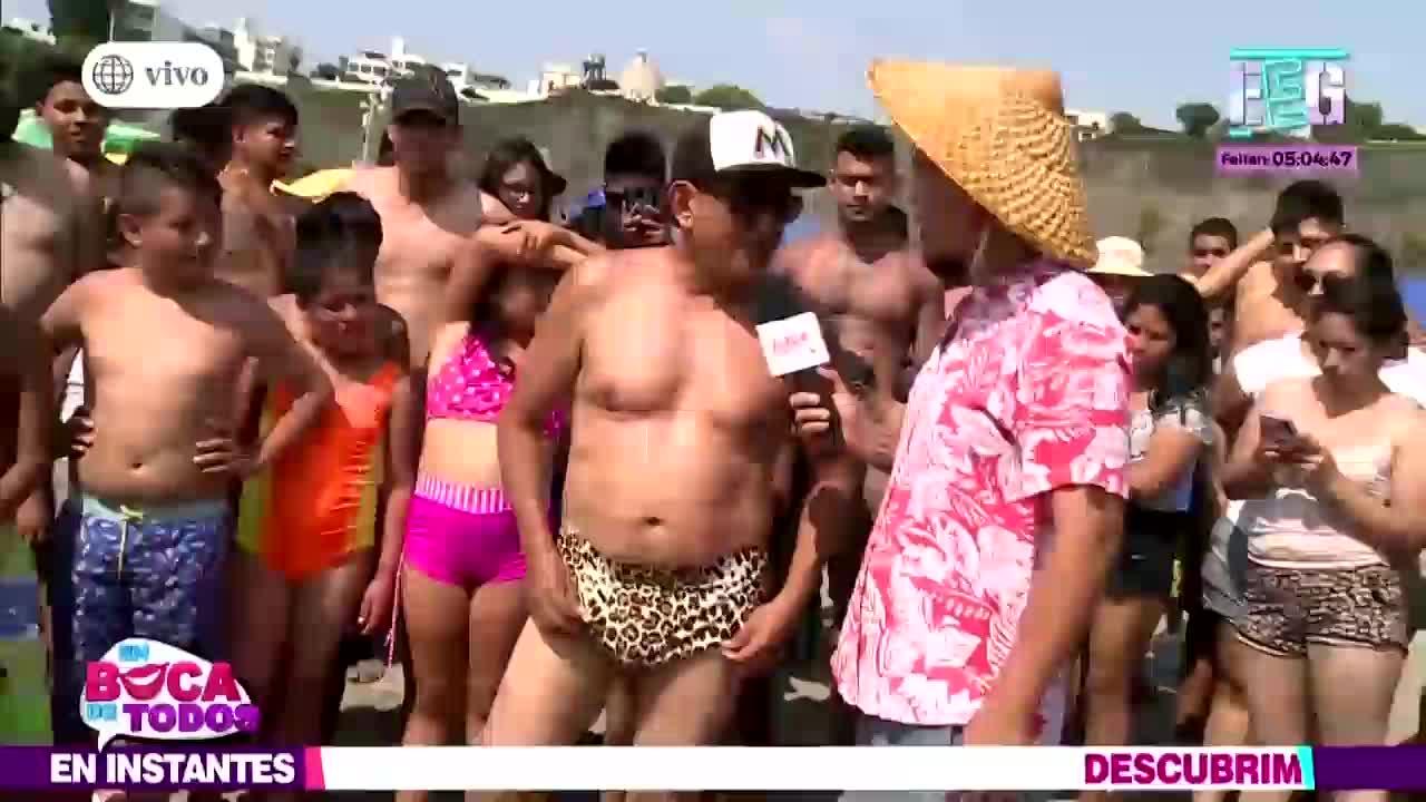 EBT: veraneantes de la playa Agua Dulce se someten al 'reto de la sunga'