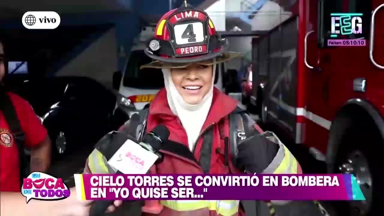 EBT: Cielo Torres cumplió con su deseo de ser bombero voluntario