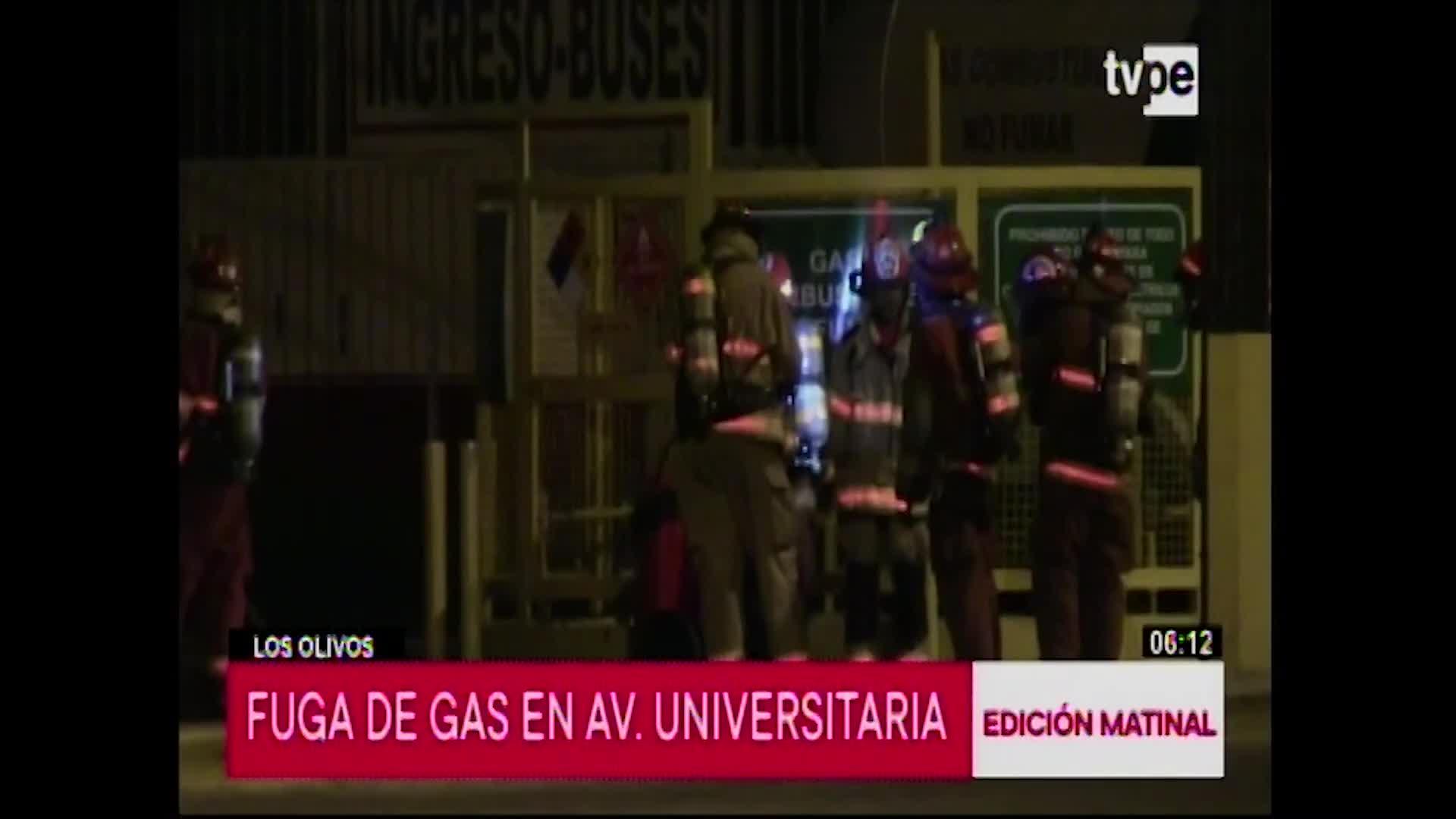 Fuga de gas genera pánico en Los Olivos