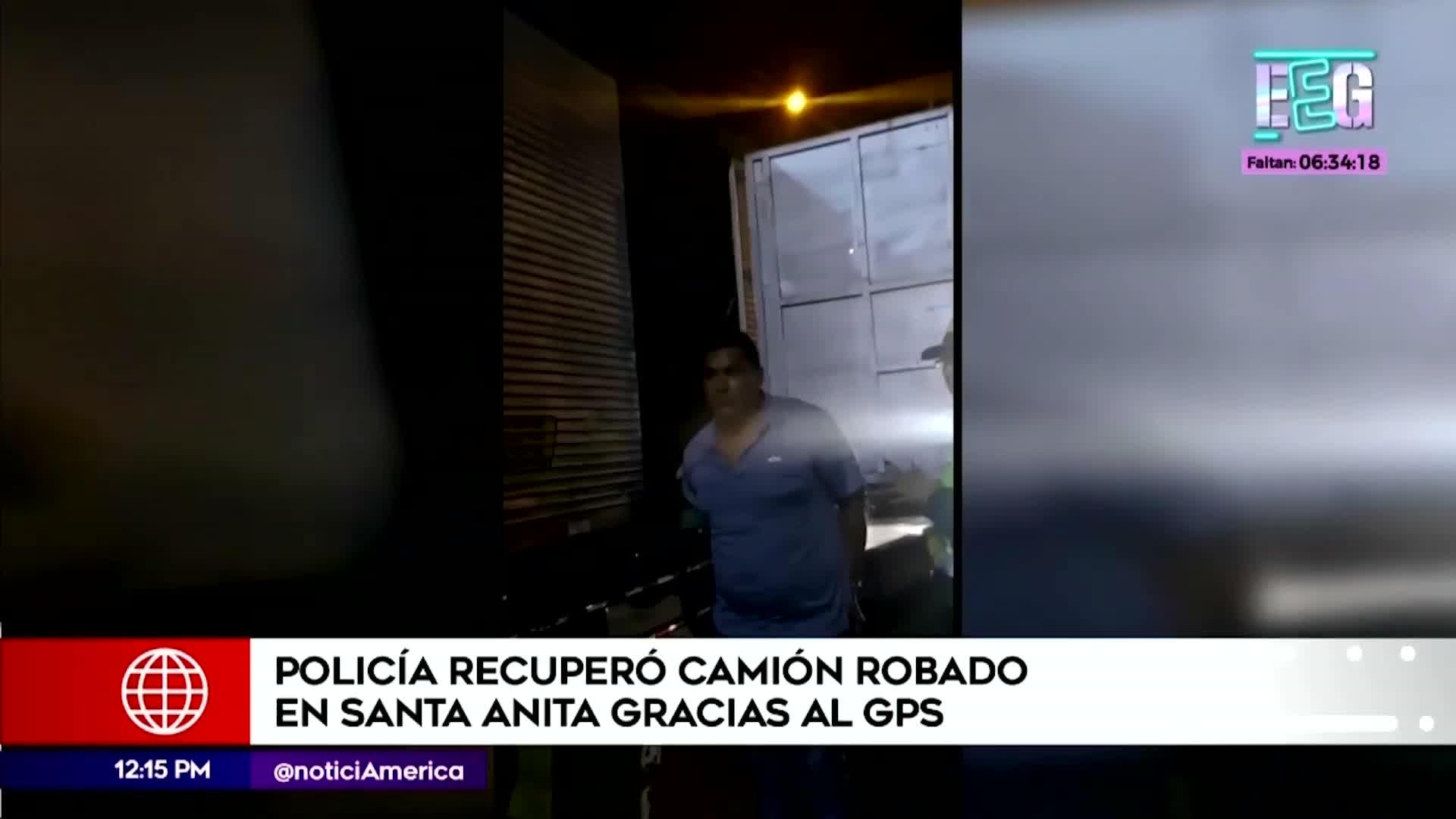Santa Anita: Policía logró recuperar camión robado gracias al GPS