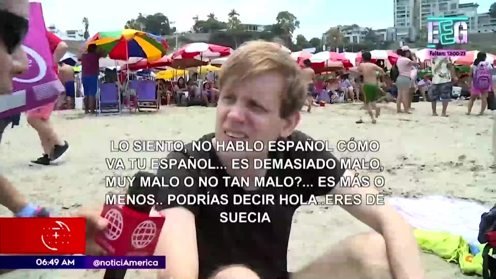 Extranjeros aprovechan las elecciones para asistir a las playas de Lima