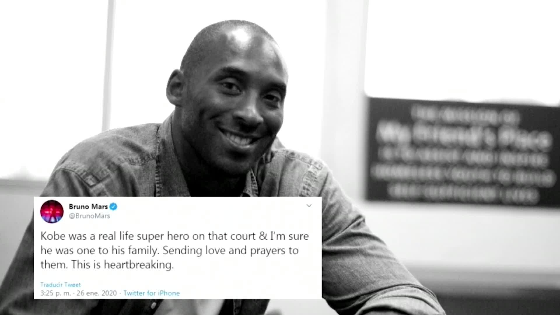 Hollywood y famosos de Estados Unidos lloran la muerte de Kobe Bryant