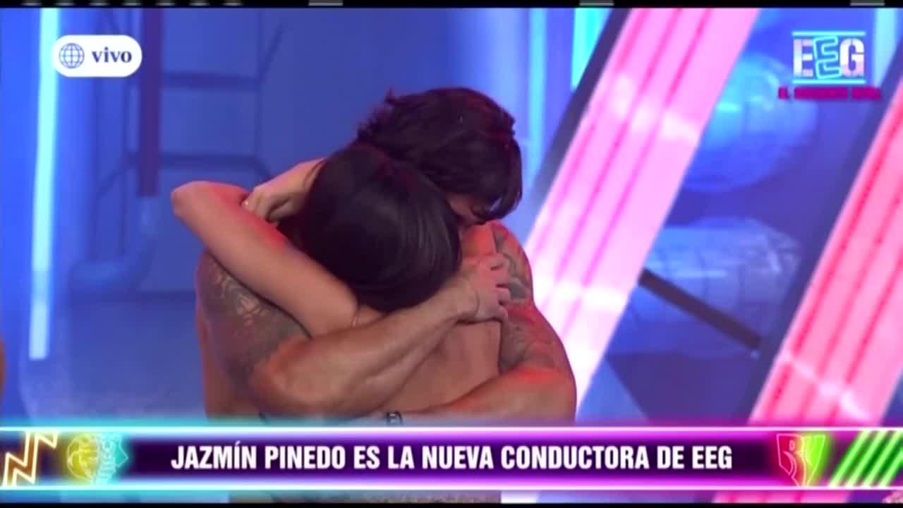 Jazmín Pinedo protagoniza tierno abrazo con Gino Assereto en su regreso a 'Esto es guerra'