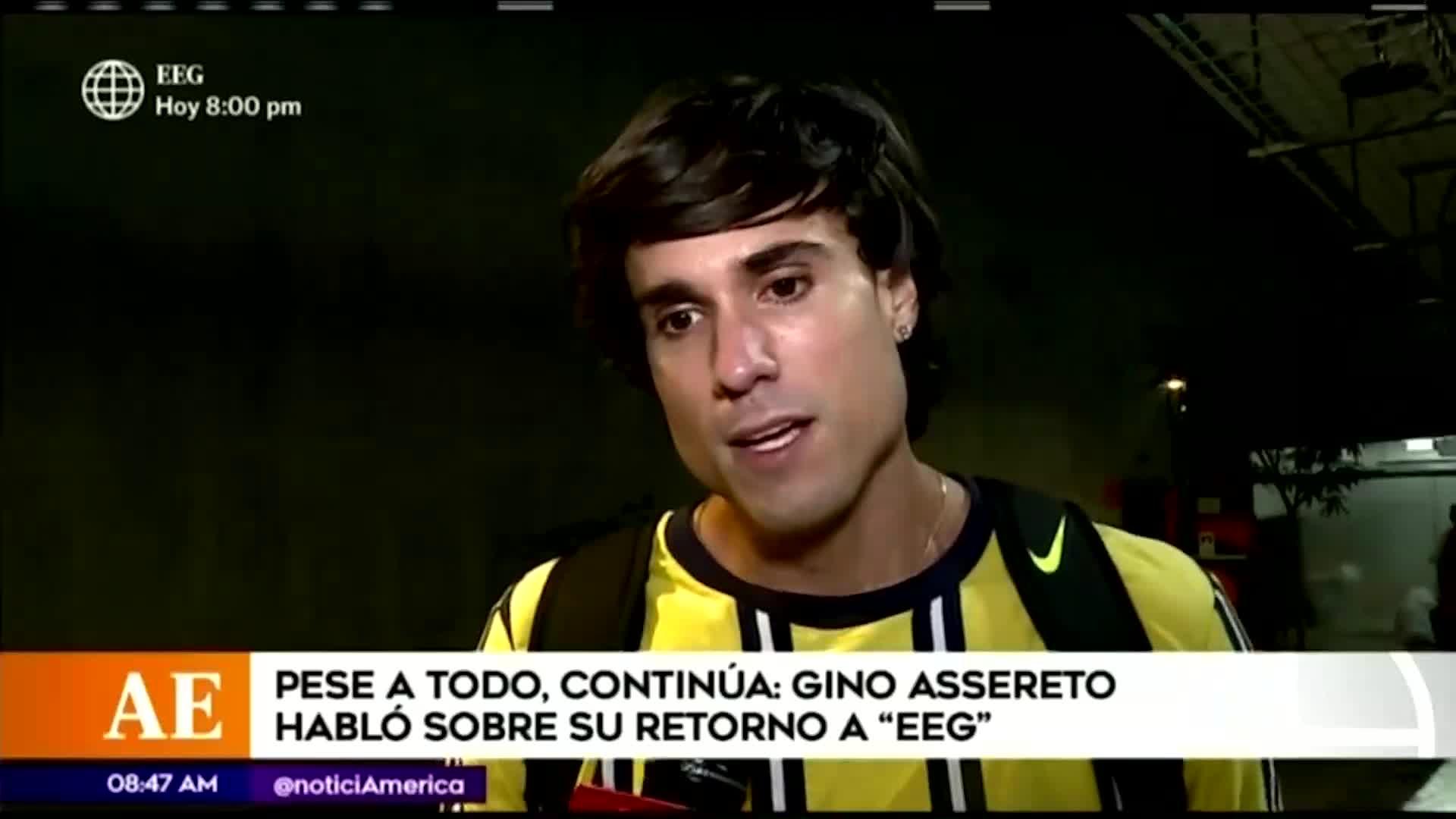 """EEG: Gino Assereto sobre Jazmín Pinedo """"Estoy seguro que ella lo puede hacer increíble"""""""