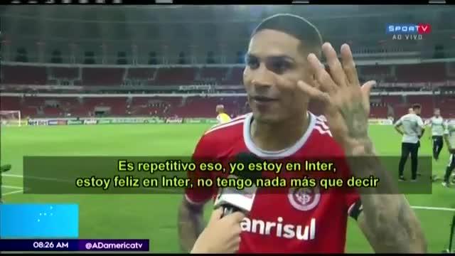 """Paolo Guerrero: """"Me siento feliz en Inter"""""""