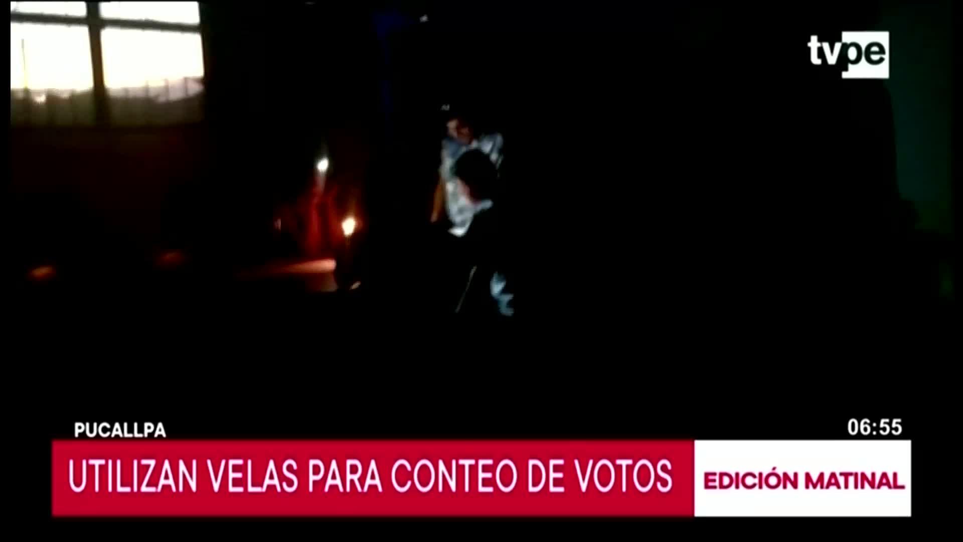 Elecciones 2020: Utilizan velas para conteo de votas en Pucallpa