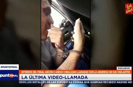 Penal Ancón II : captan a internos del anexo 3 realizando videollamadas con celulares