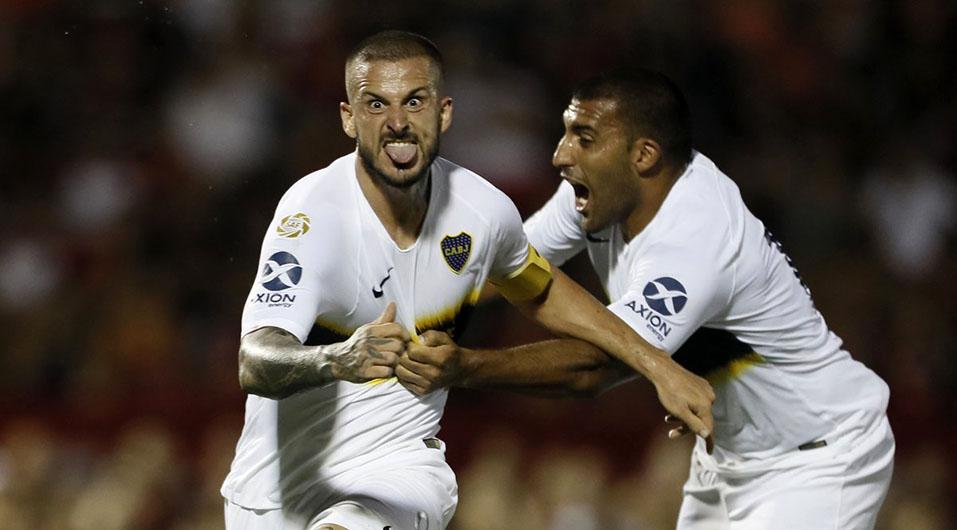 Boca Juniors: Benedetto repite celebración de final de Copa Libertadores tras marcar gol   VIDEO